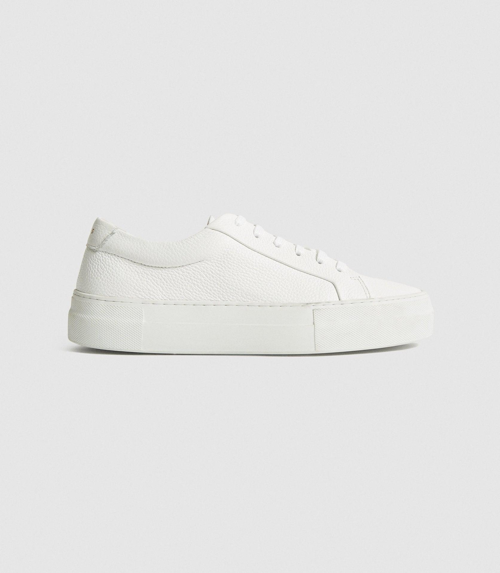 LUCA - PLATFORM TUMBLED LEATHER SNEAKERS