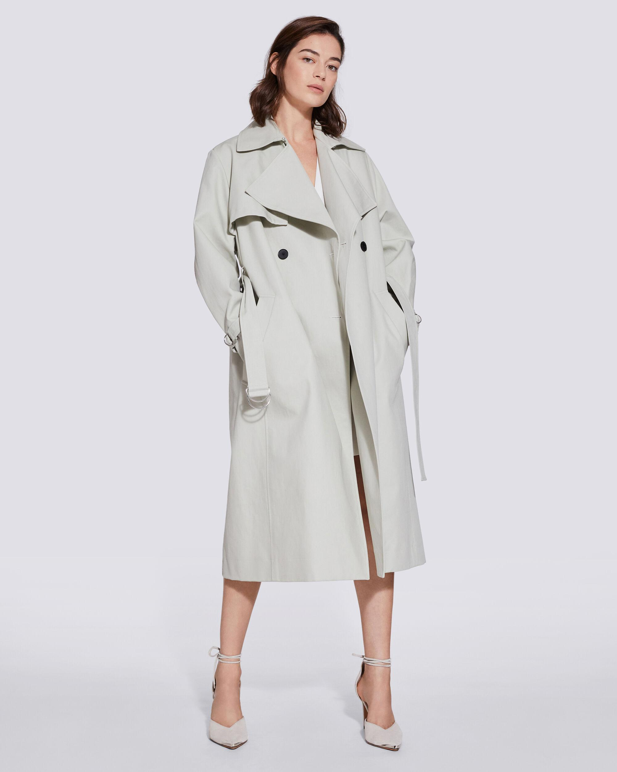 BENOIT DOUBLE BREASTED BELTED TRENCH COAT