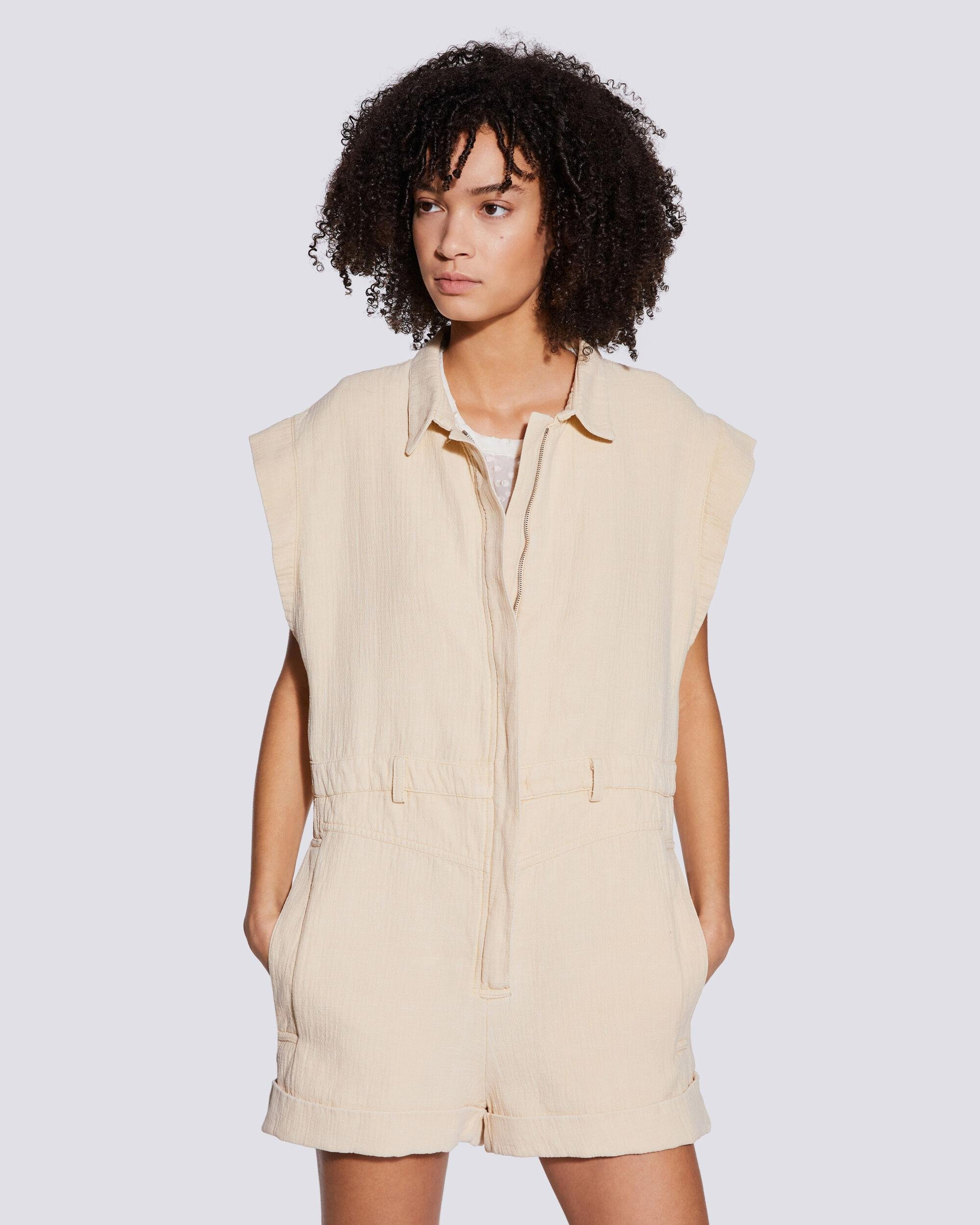 PLAYA RELAXED SLEEVELESS COLLARED JUMPSUIT 4