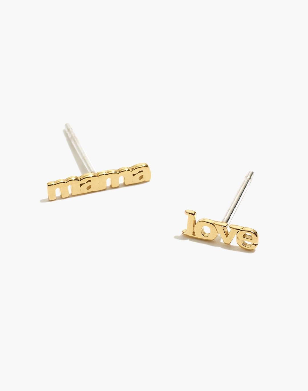 Delicate Collection Demi-Fine 14k Plated Mismatch Mama Stud Earrings