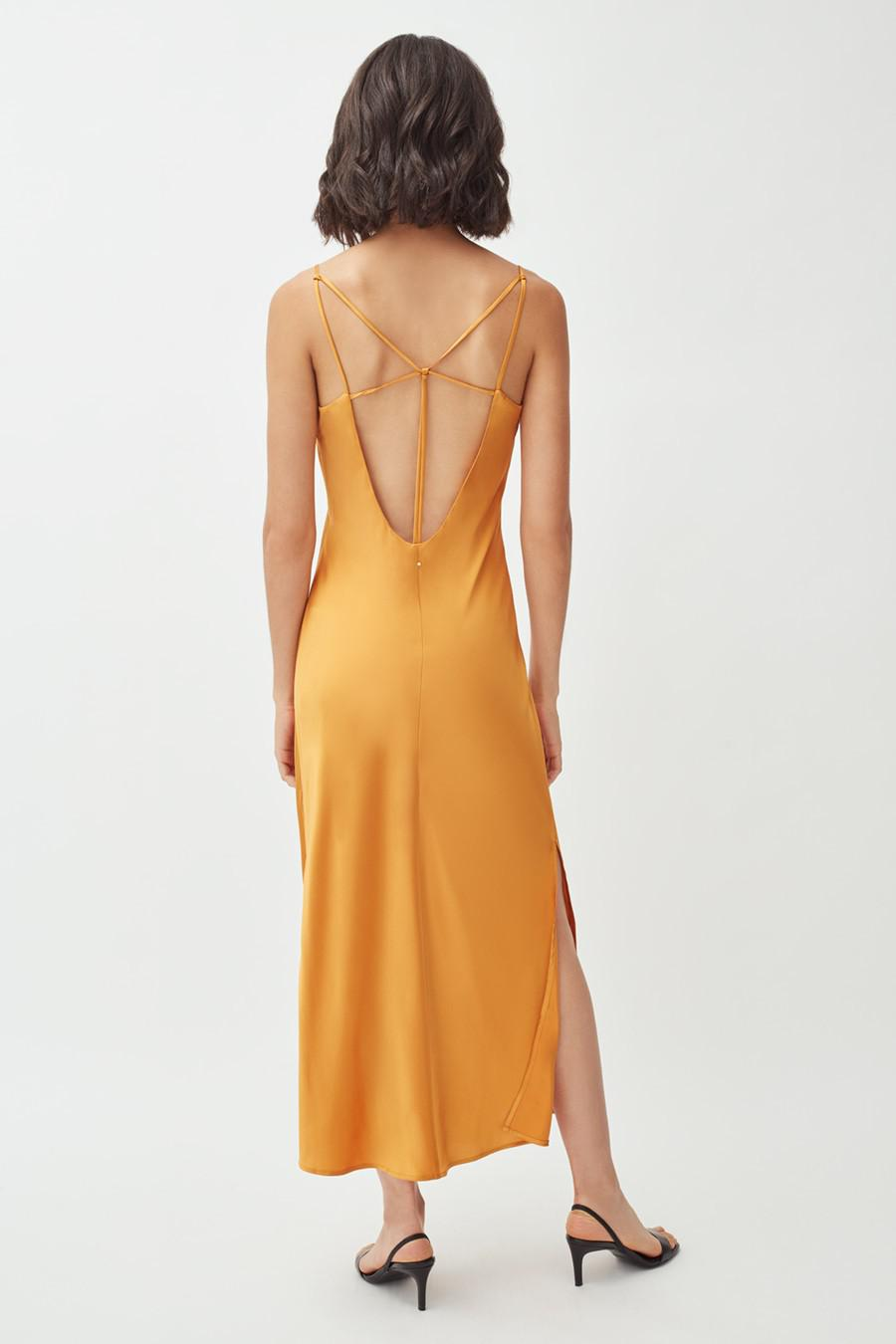 Women's Charmeuse Slip Dress in Citrine | Size: Large | Silk Charmeuse by Cuyana 3