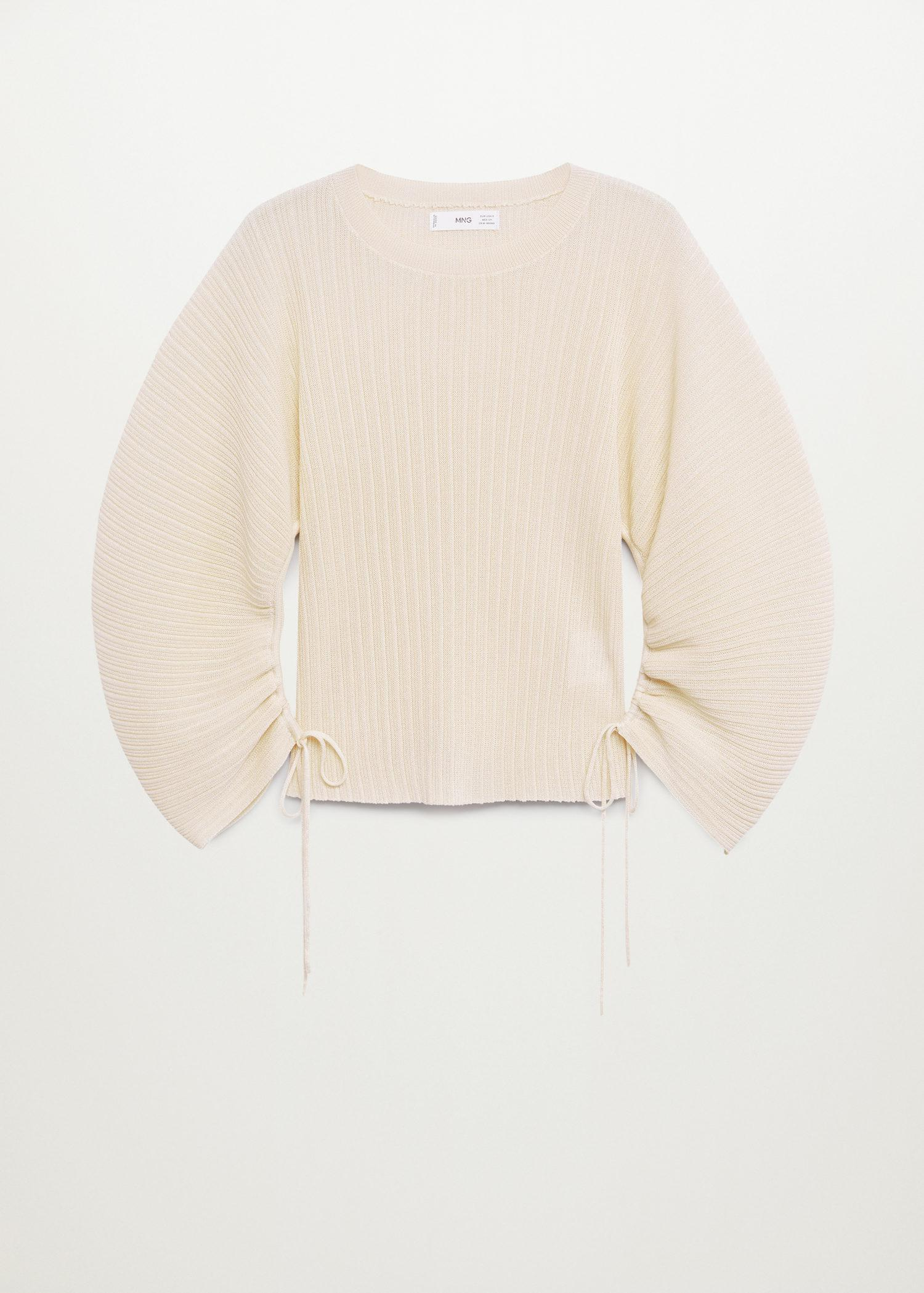 Pleated knit sweater 7