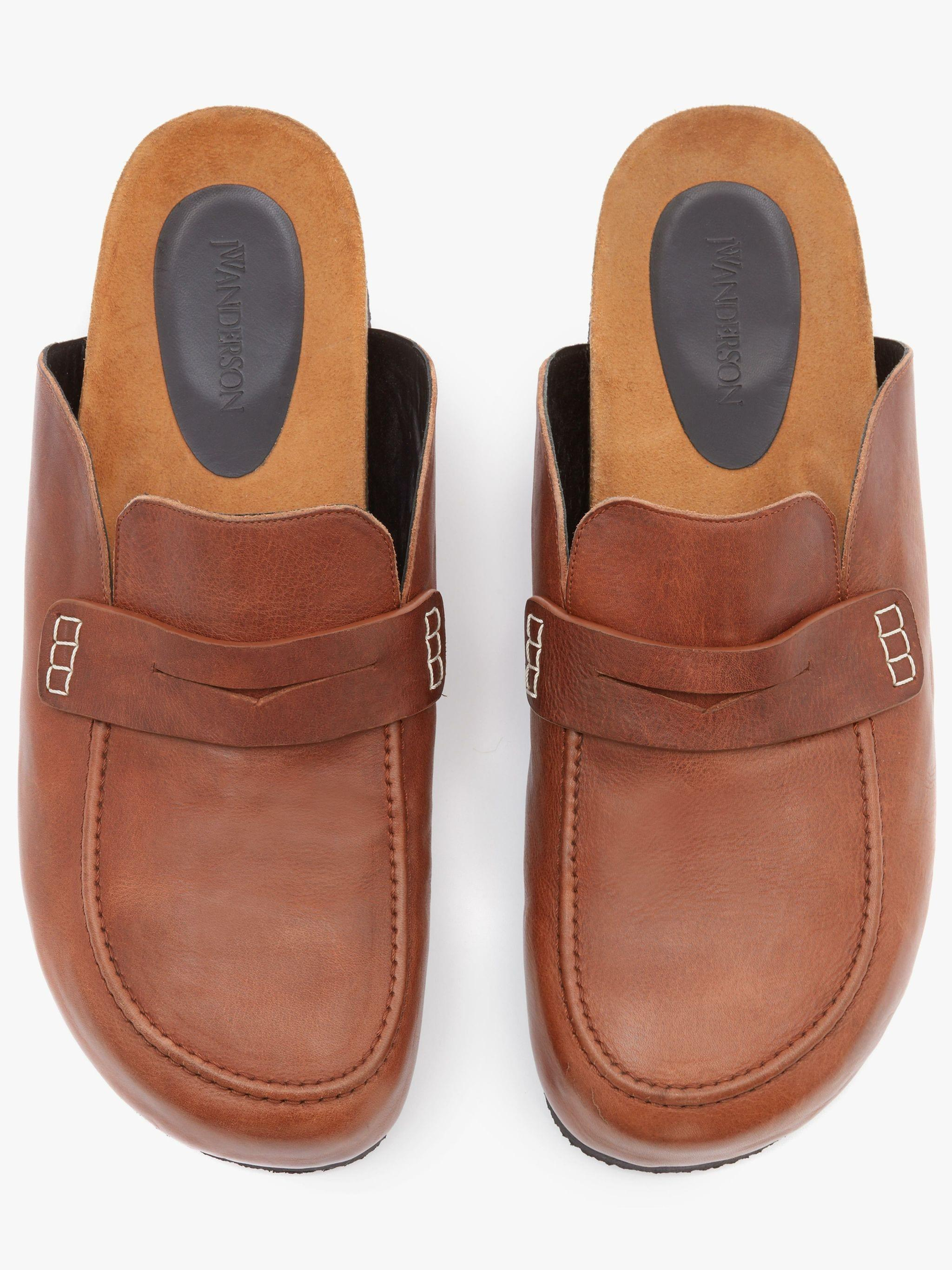 LEATHER LOAFER MULES 3