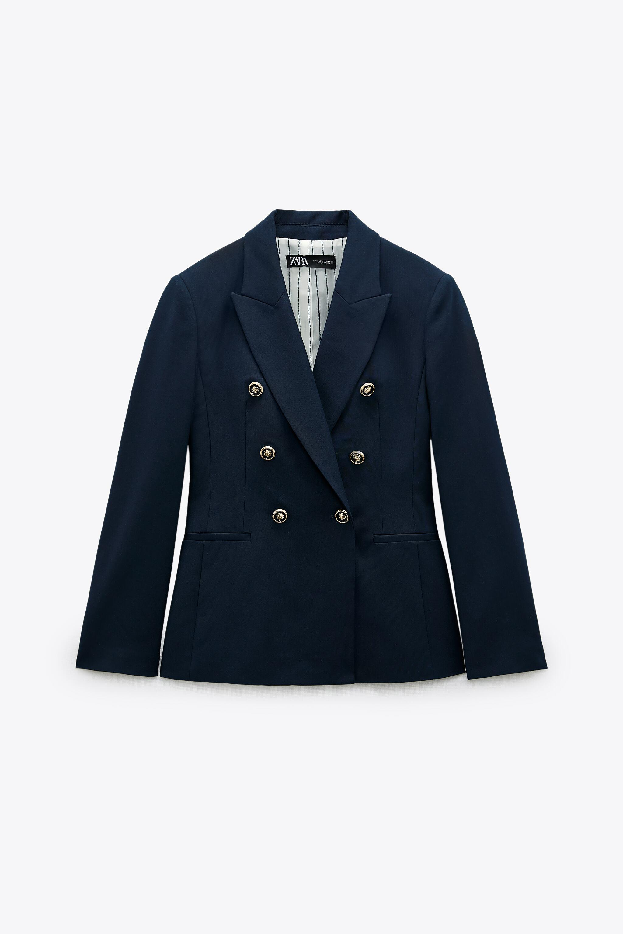 DOUBLE BREASTED BUTTONED BLAZER 6