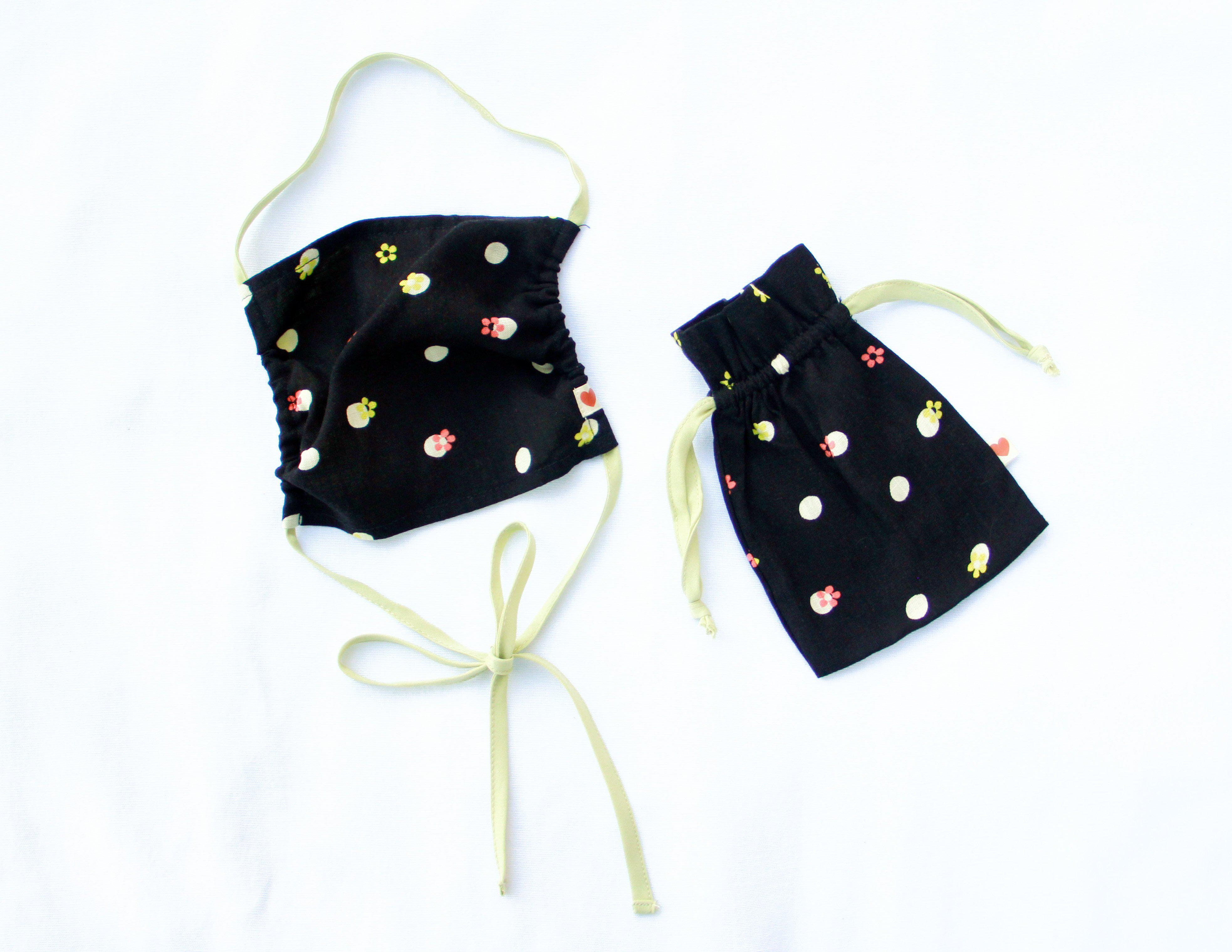 FACE MASK + MATCHING POUCH ~ DELIA DOT (FINAL SALE PRICE)
