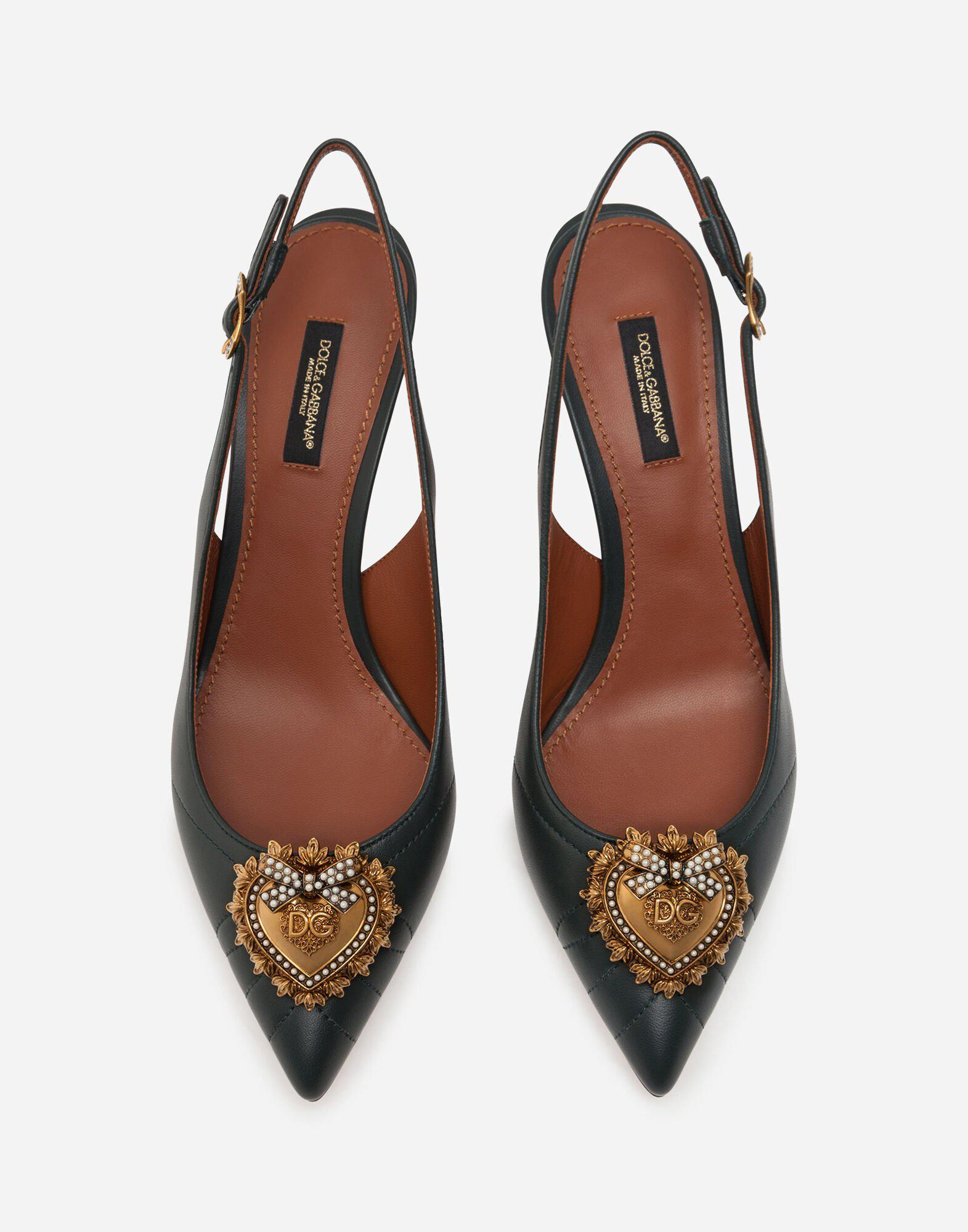 Quilted nappa leather Devotion slingbacks 3