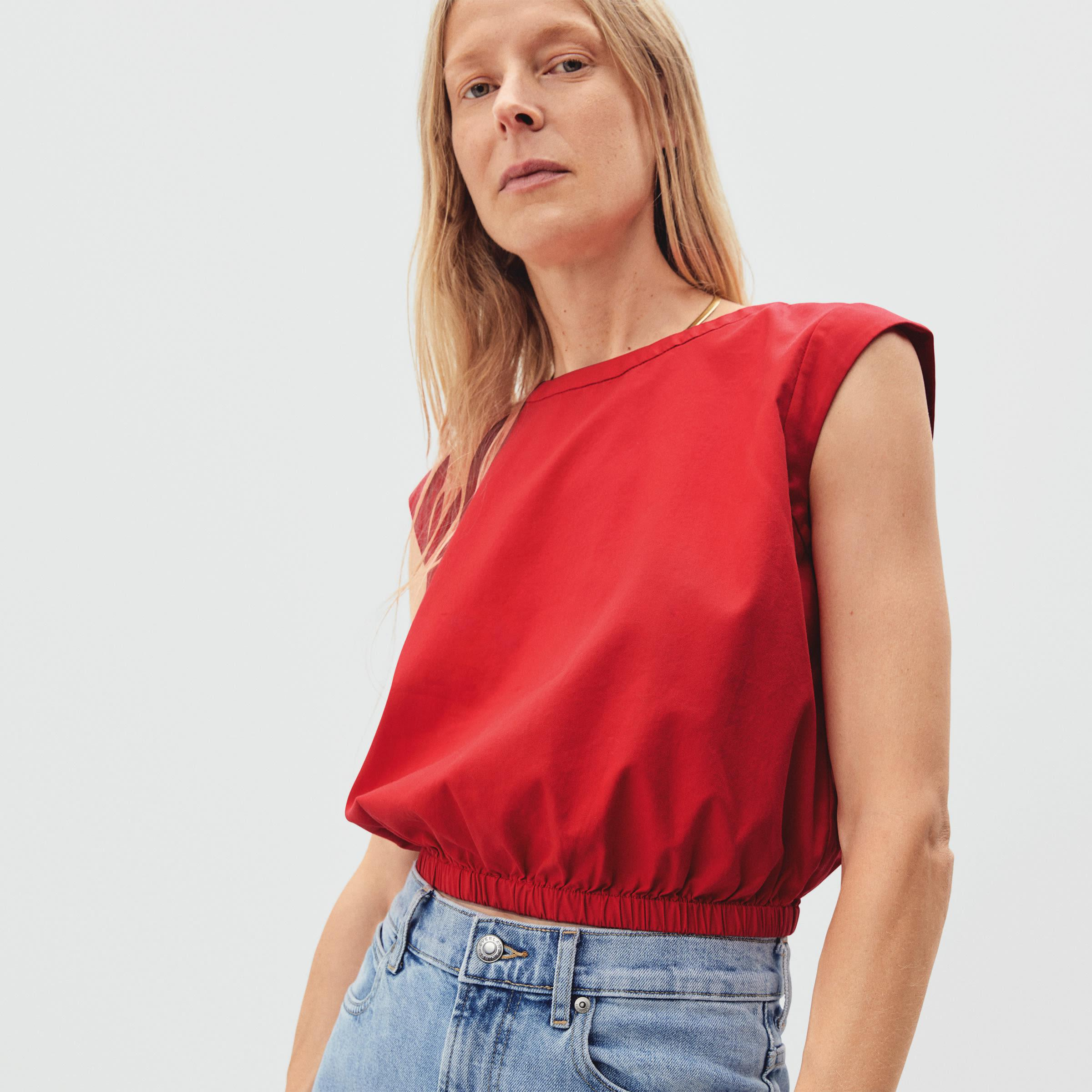 The Cropped Blouson Top