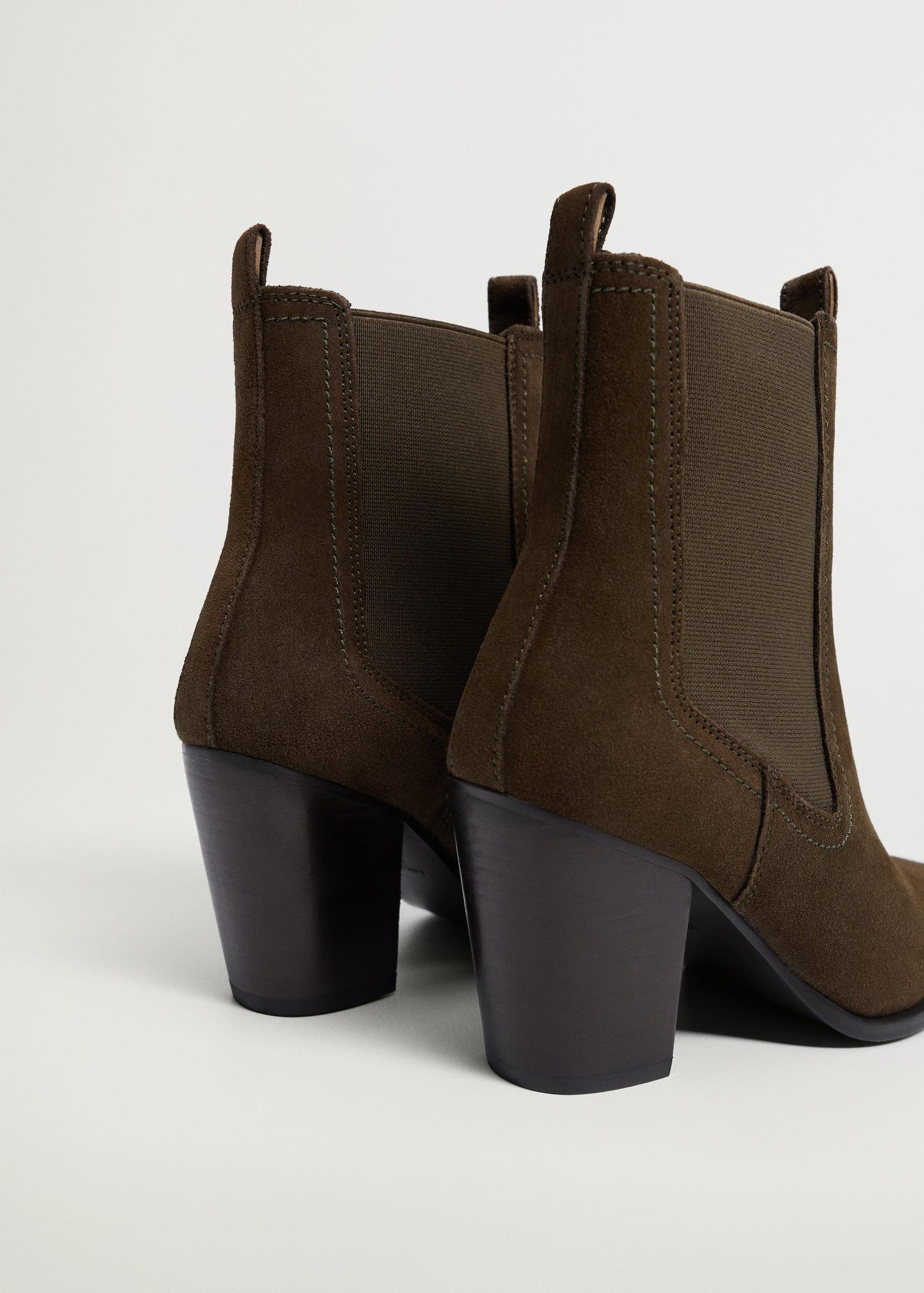 Heel leather ankle boot 2