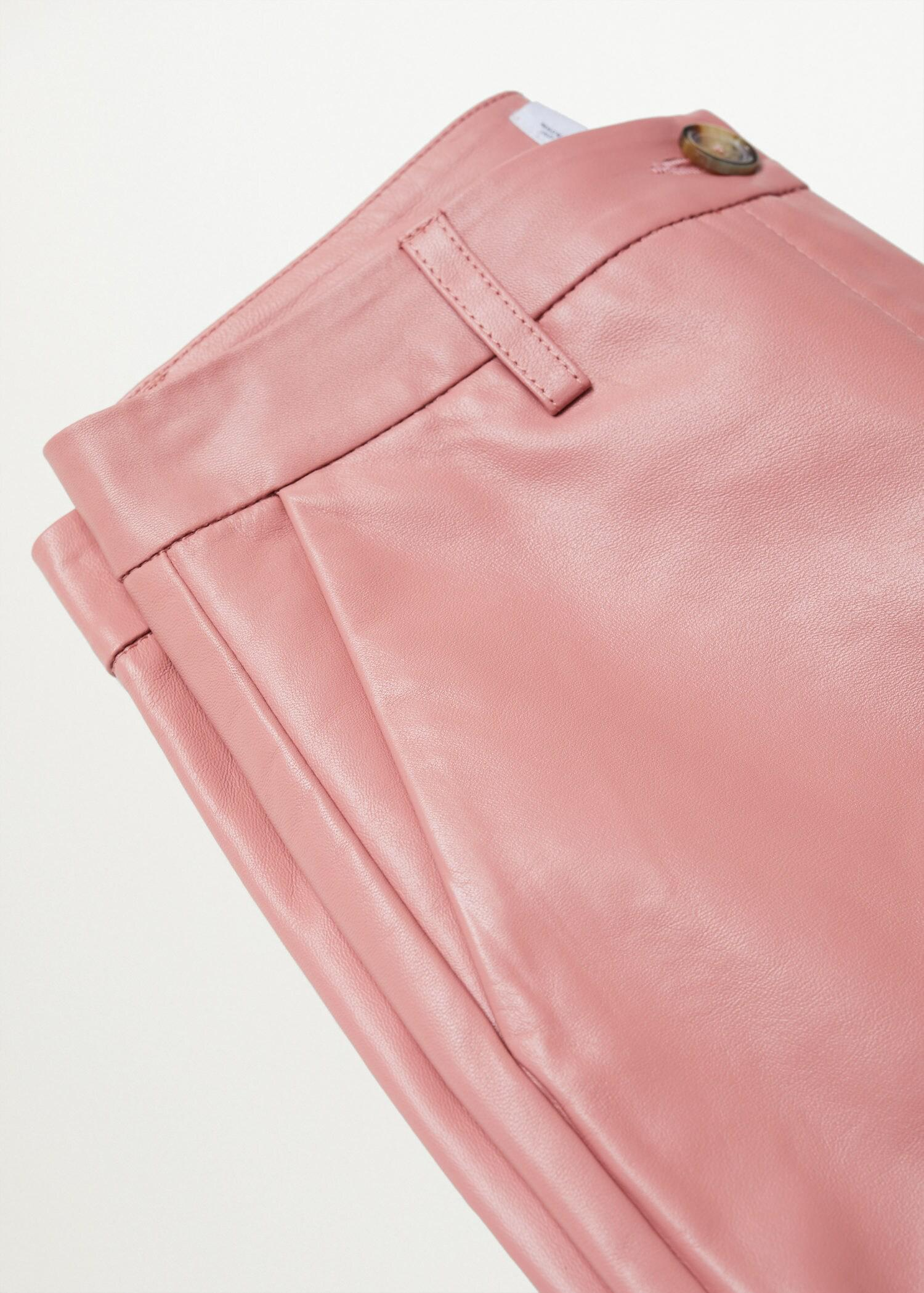 Leather culotte trouser 6