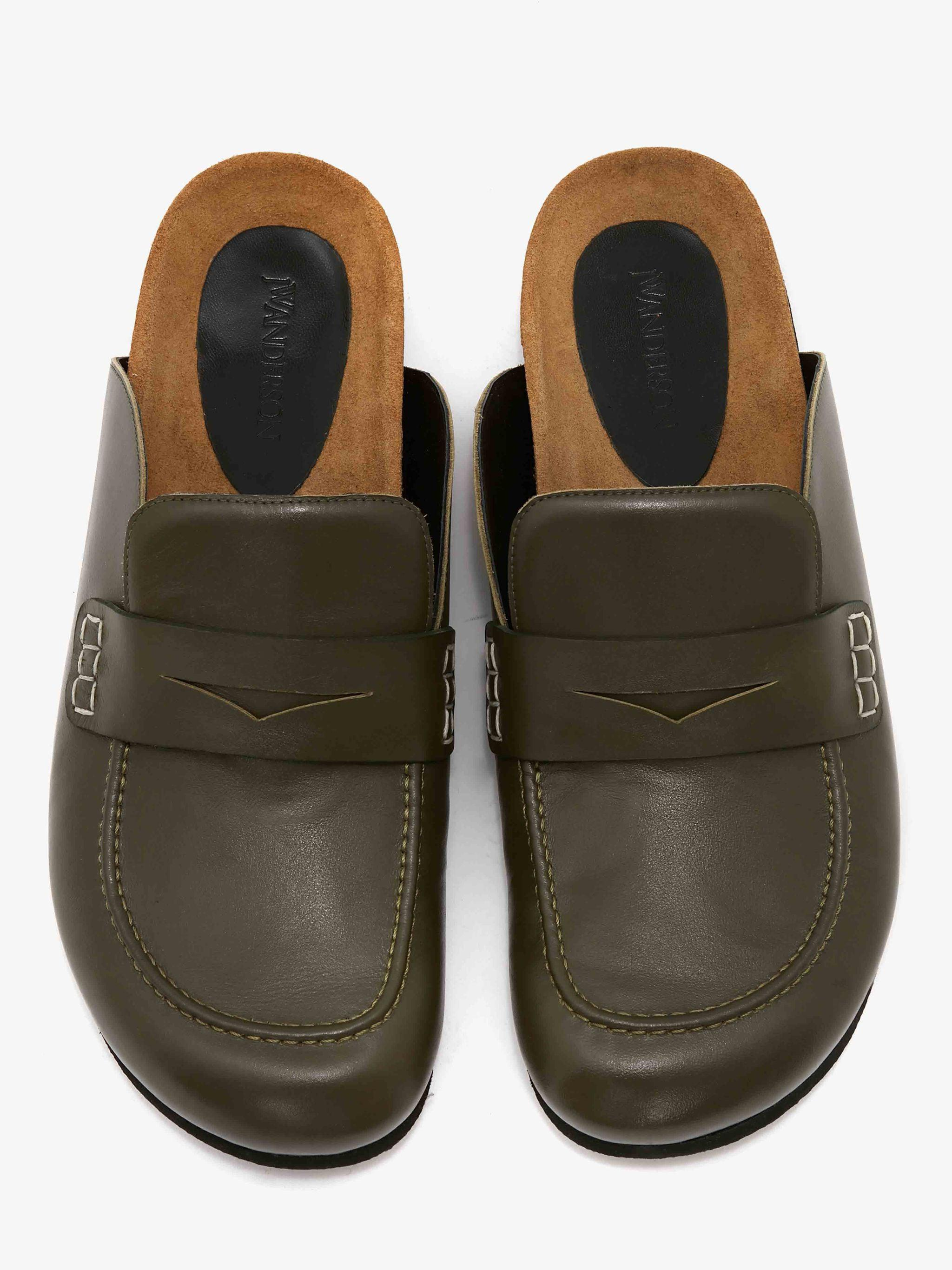 WOMEN'S LEATHER LOAFER MULES 3