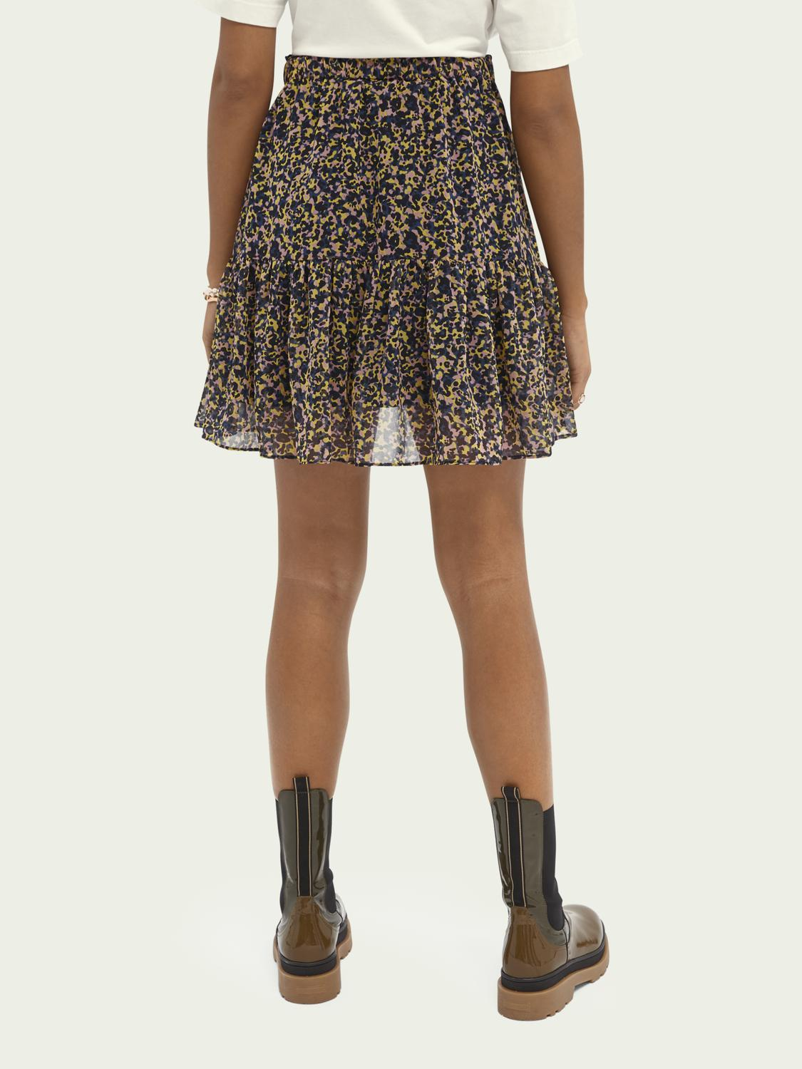 Printed recycled polyester-blend skirt 2