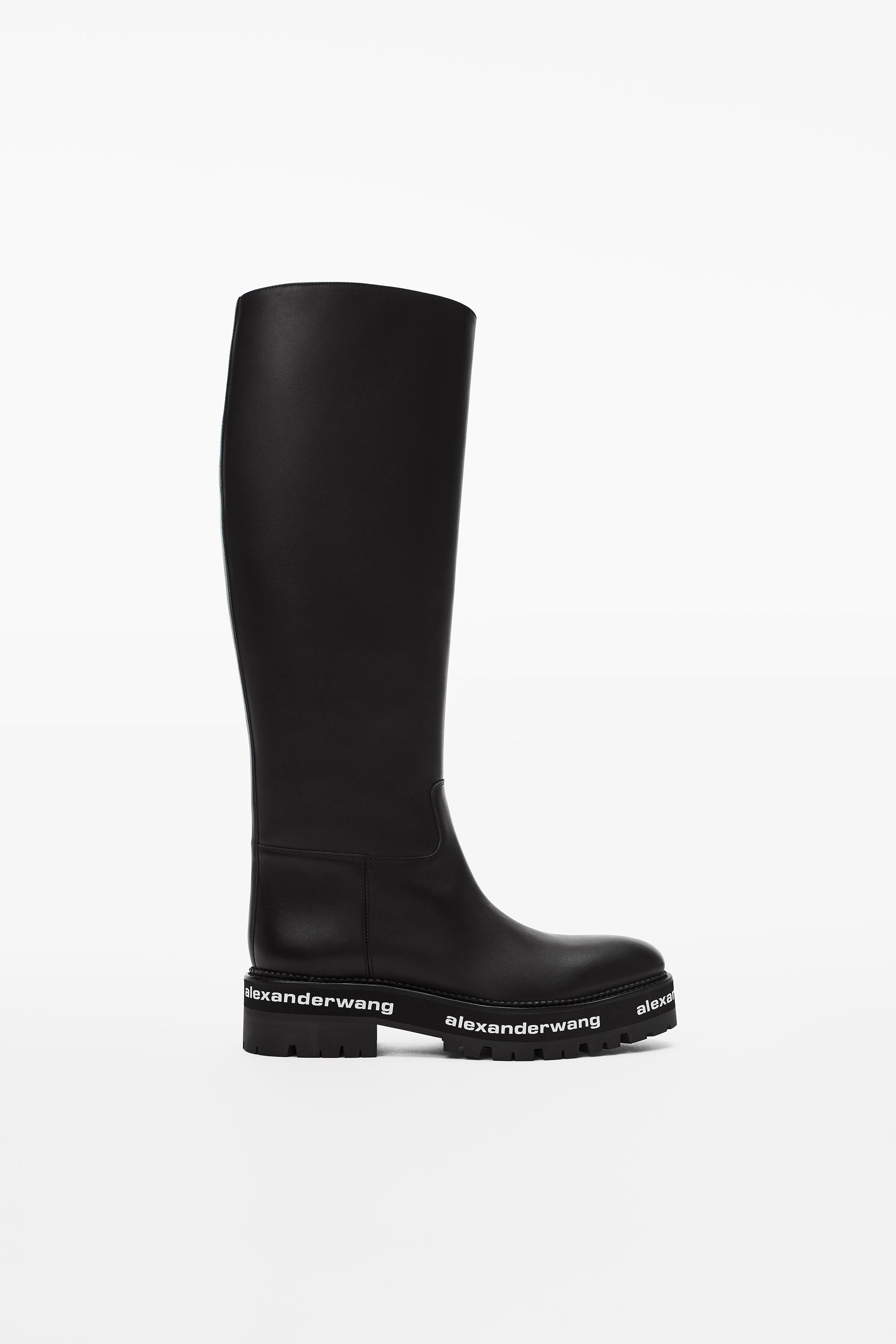 sanford leather riding boot