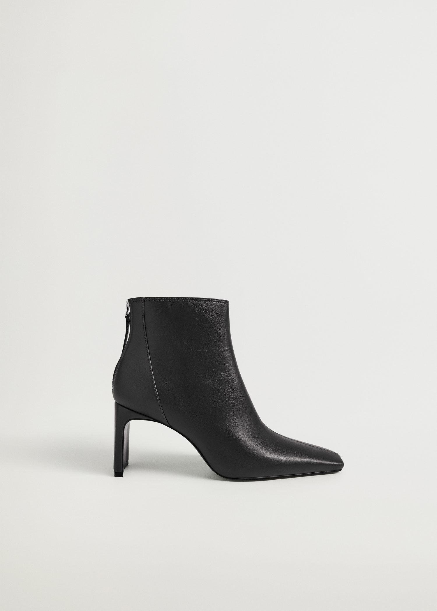 Squared-toe ankle boots