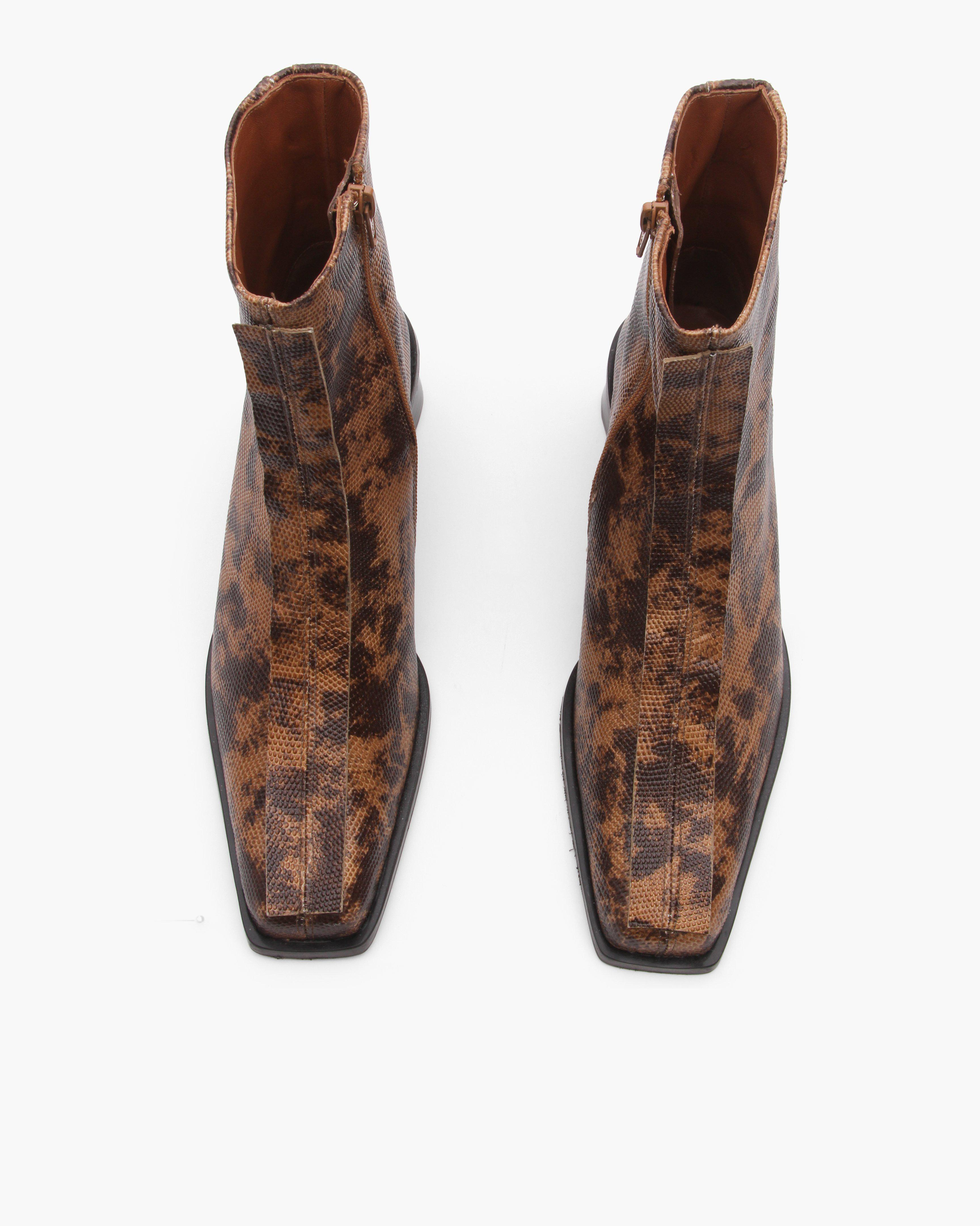 Miki Boots Leather Lizard Natural 3