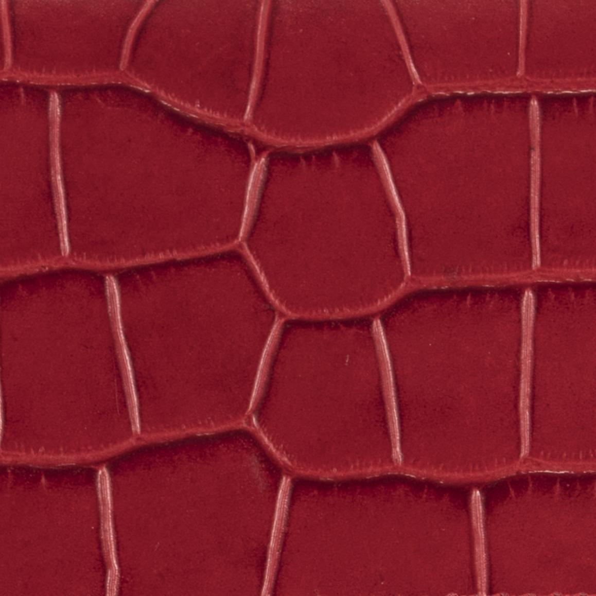 Mini Red Croco Embossed Leather 6