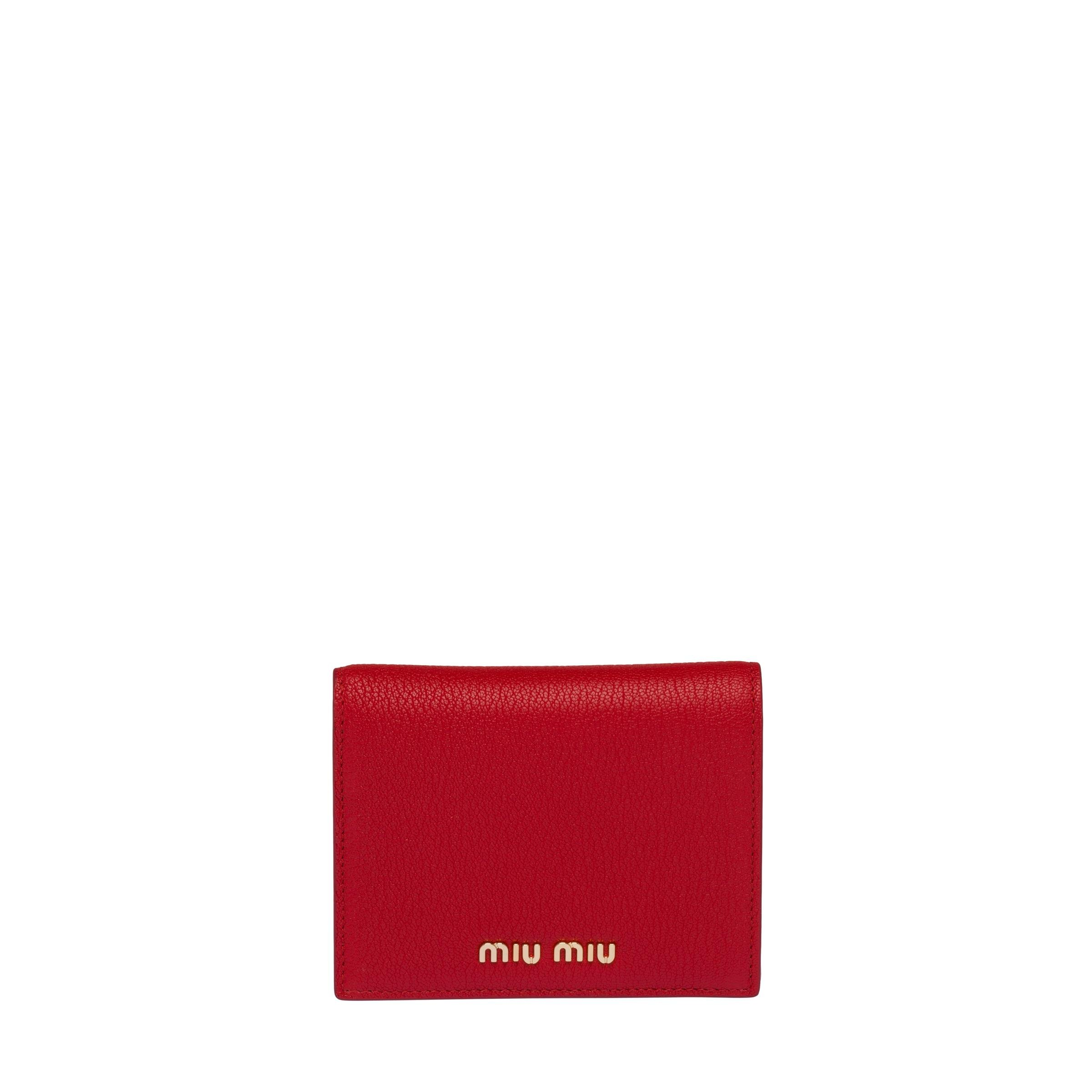 Madras Colour Leather Wallet Women Fiery Red/pink