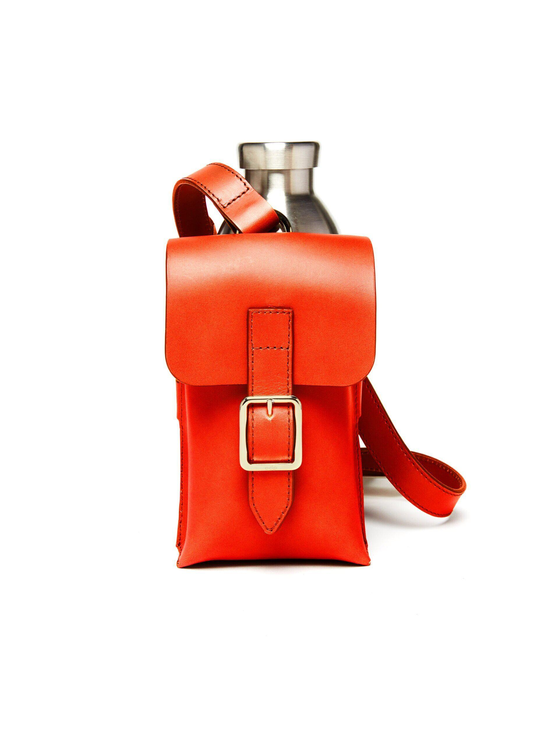 Bottle Bag with Bottle - Fiamma Leather 1