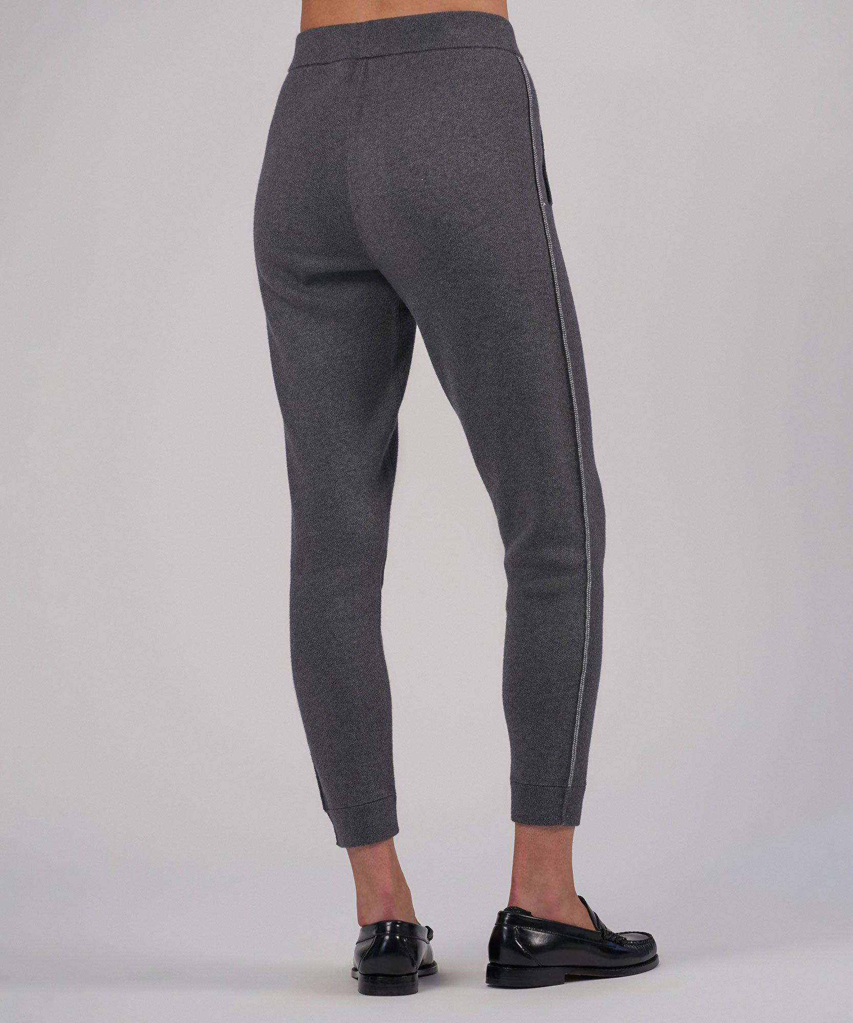 Cotton Cashmere Sweater Pant - Heather Charcoal 2