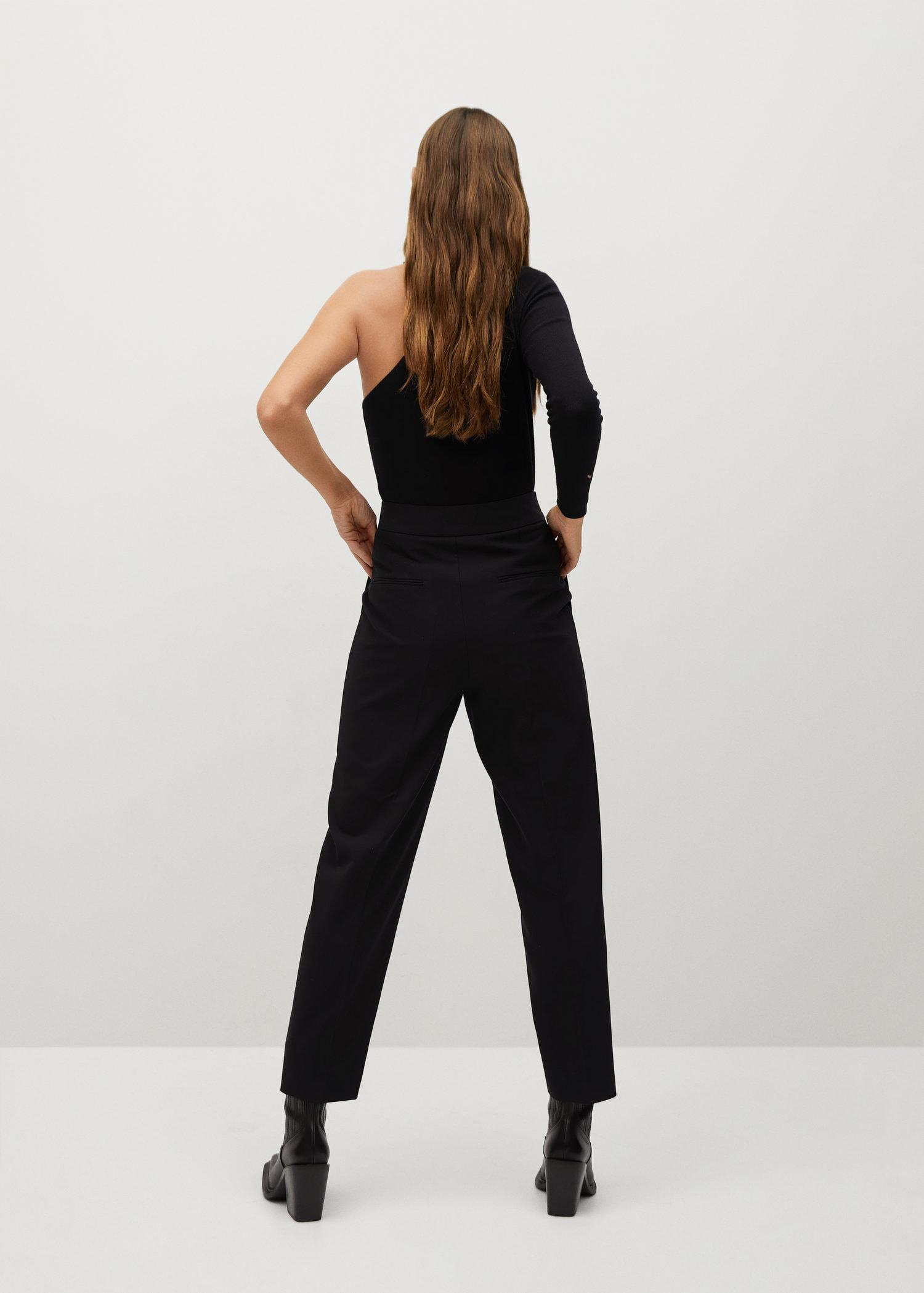 Pleated pants with zip 2