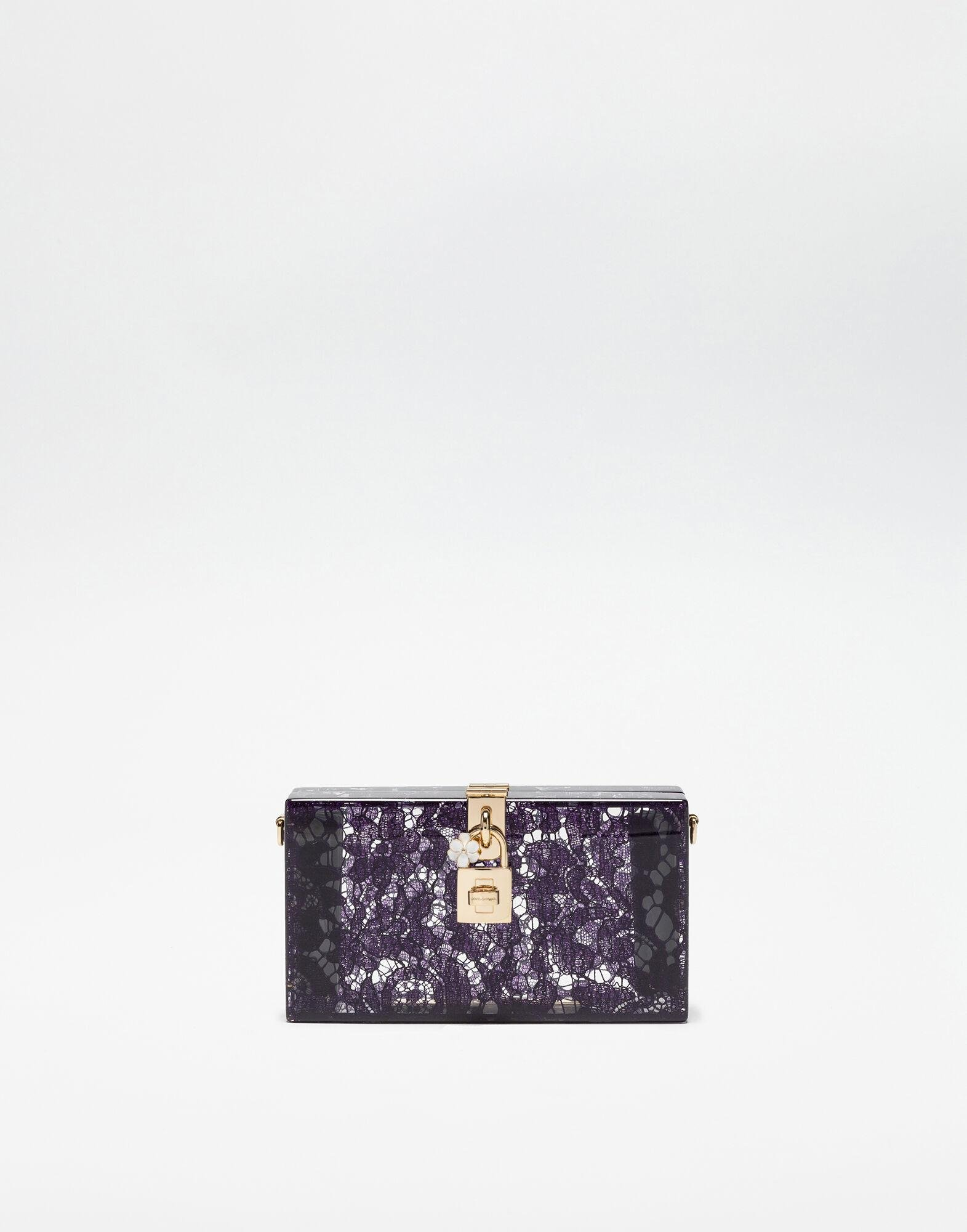 Dolce Box clutch in sint glass and lace