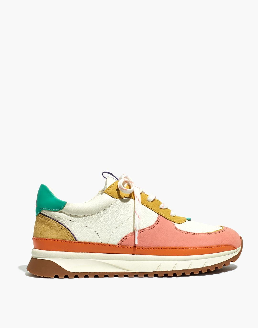 Kickoff Trainer Sneakers in Colorblock Leather 1