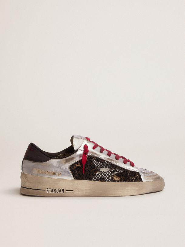 Women's Limited Edition LAB silver and animal-print Stardan sneakers