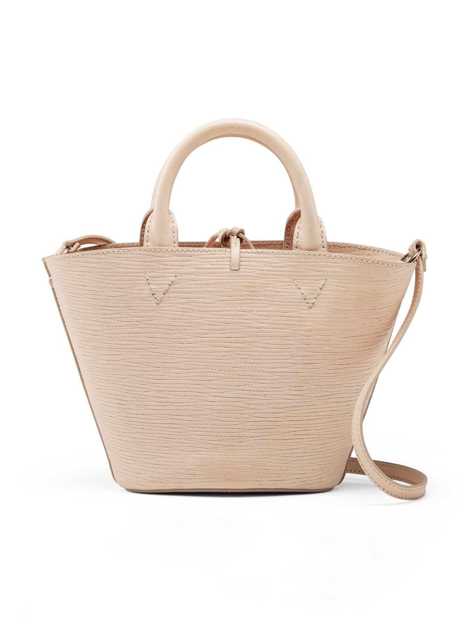 Small Cesta -  Natural Leather