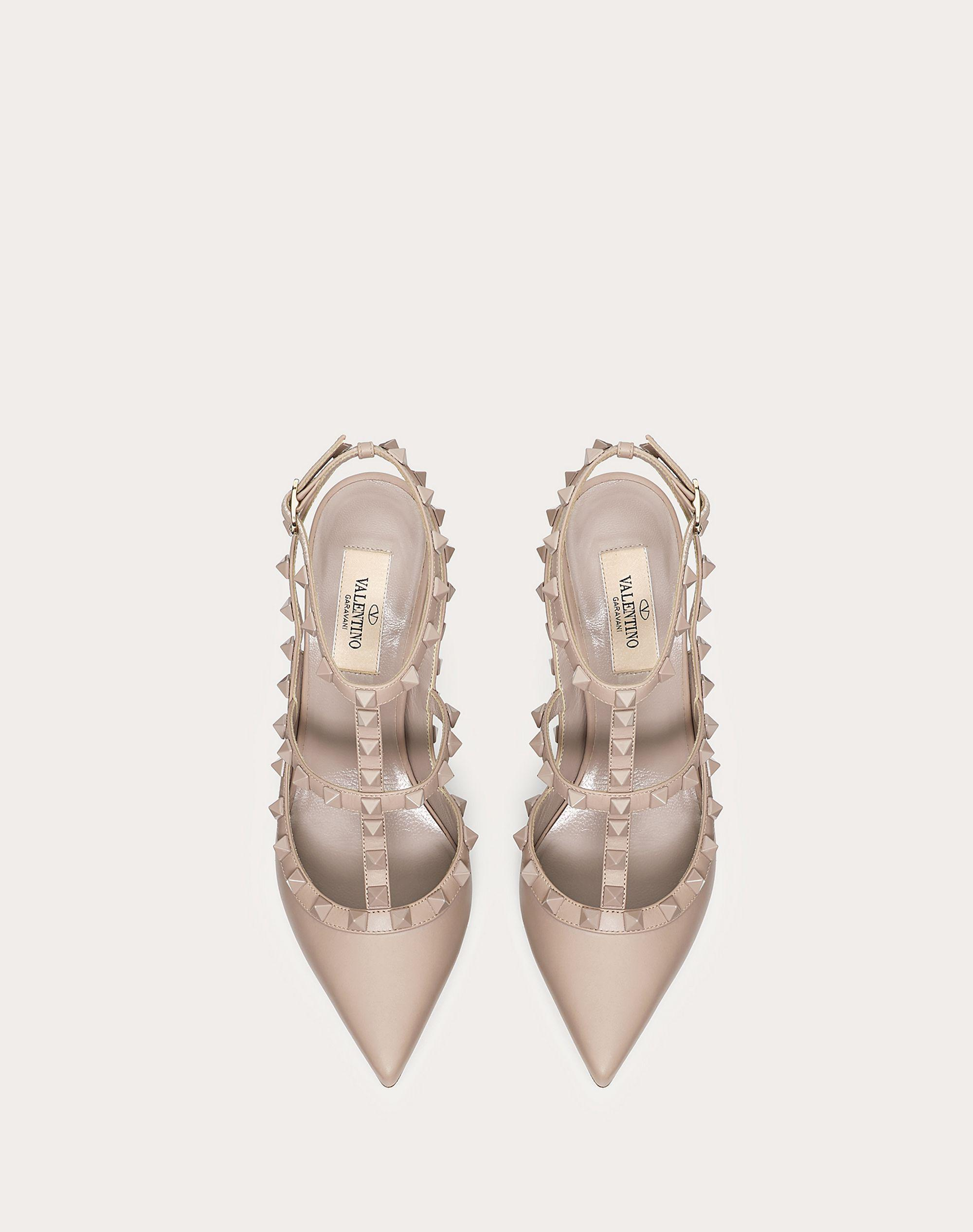 Rockstud Ankle Strap Pump with Tonal Studs 100  mm 3