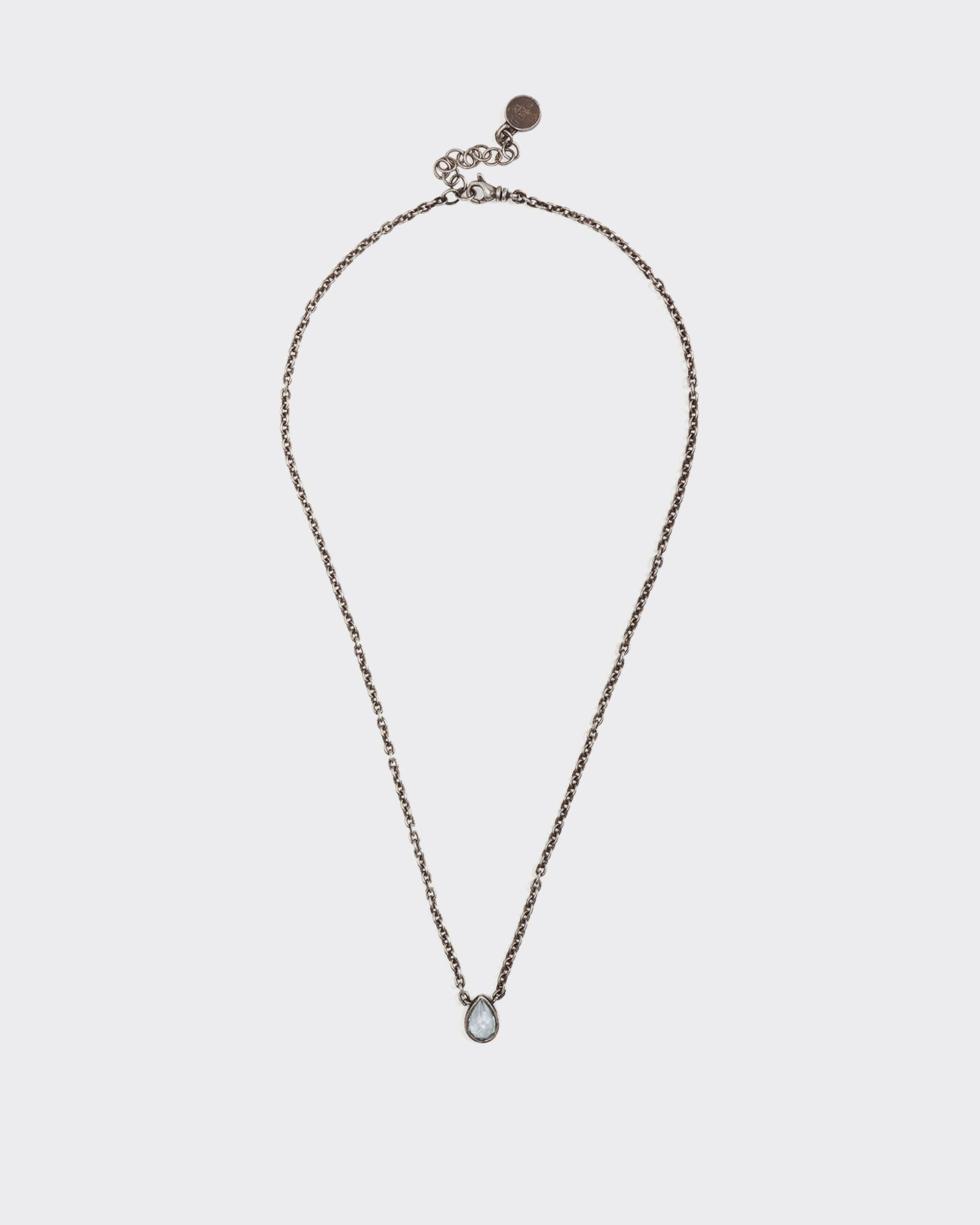 PRASE SILVER AND AQUAMARINE BEAD NECKLACE