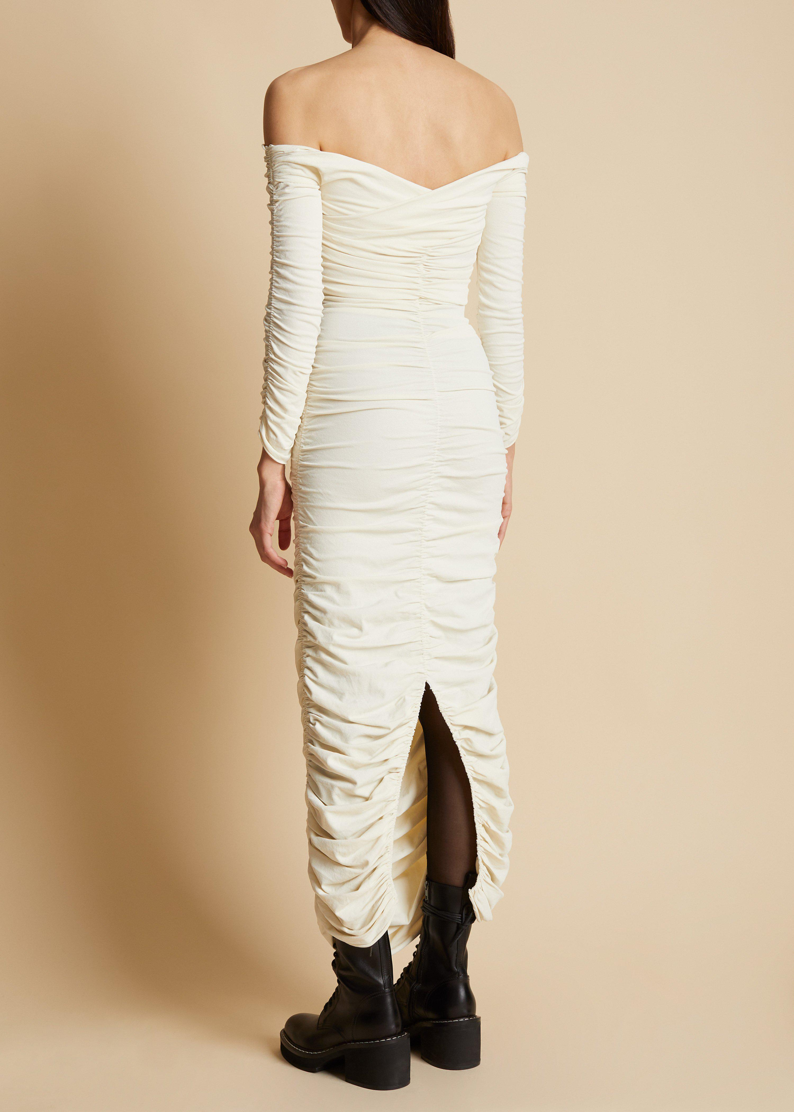The Lydia Dress in Ivory 2