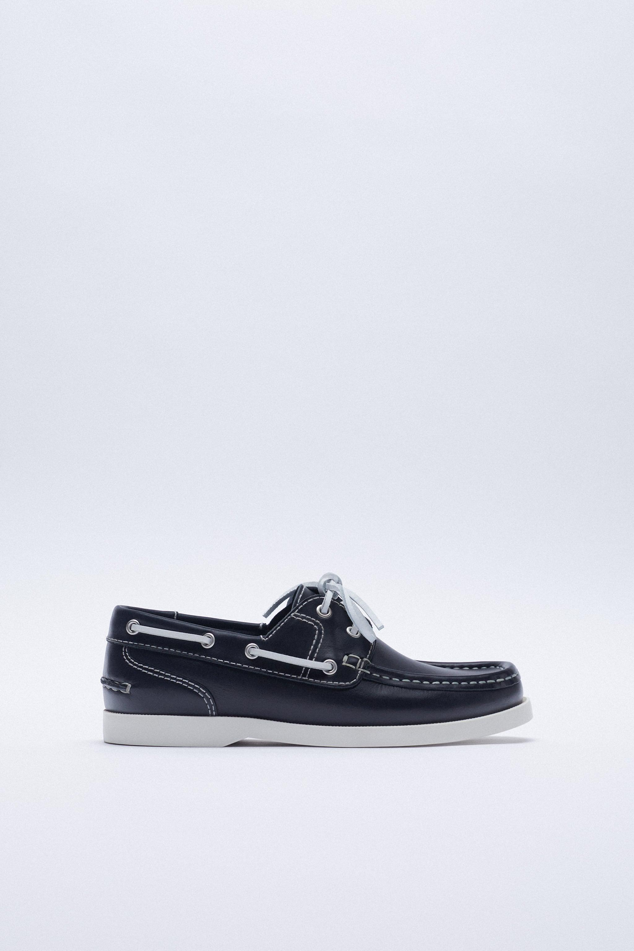 LOW HEEL LEATHER BOAT SHOES 2