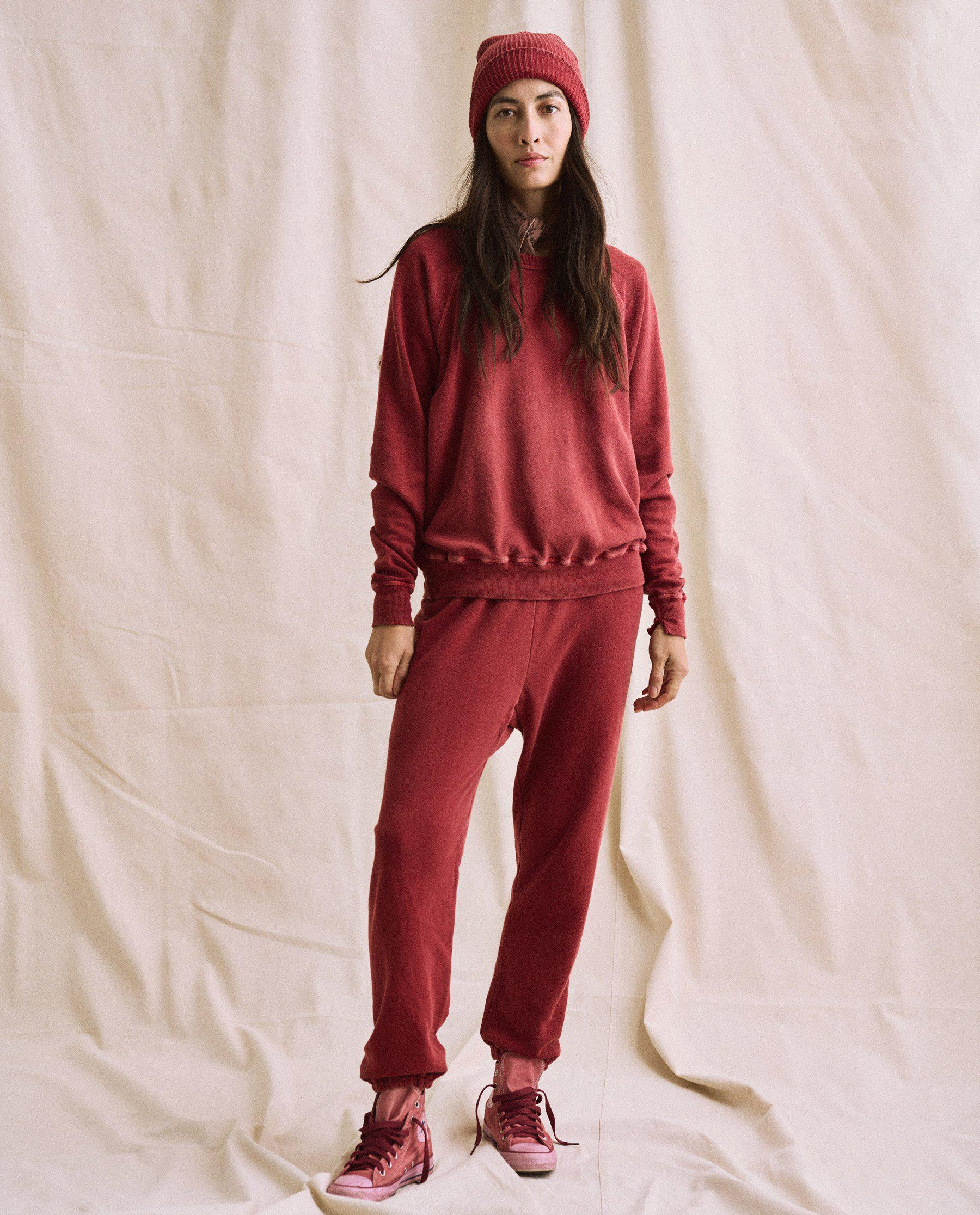 The Plant-Dyed College Sweatshirt. Novelty -- Deep Madder Root