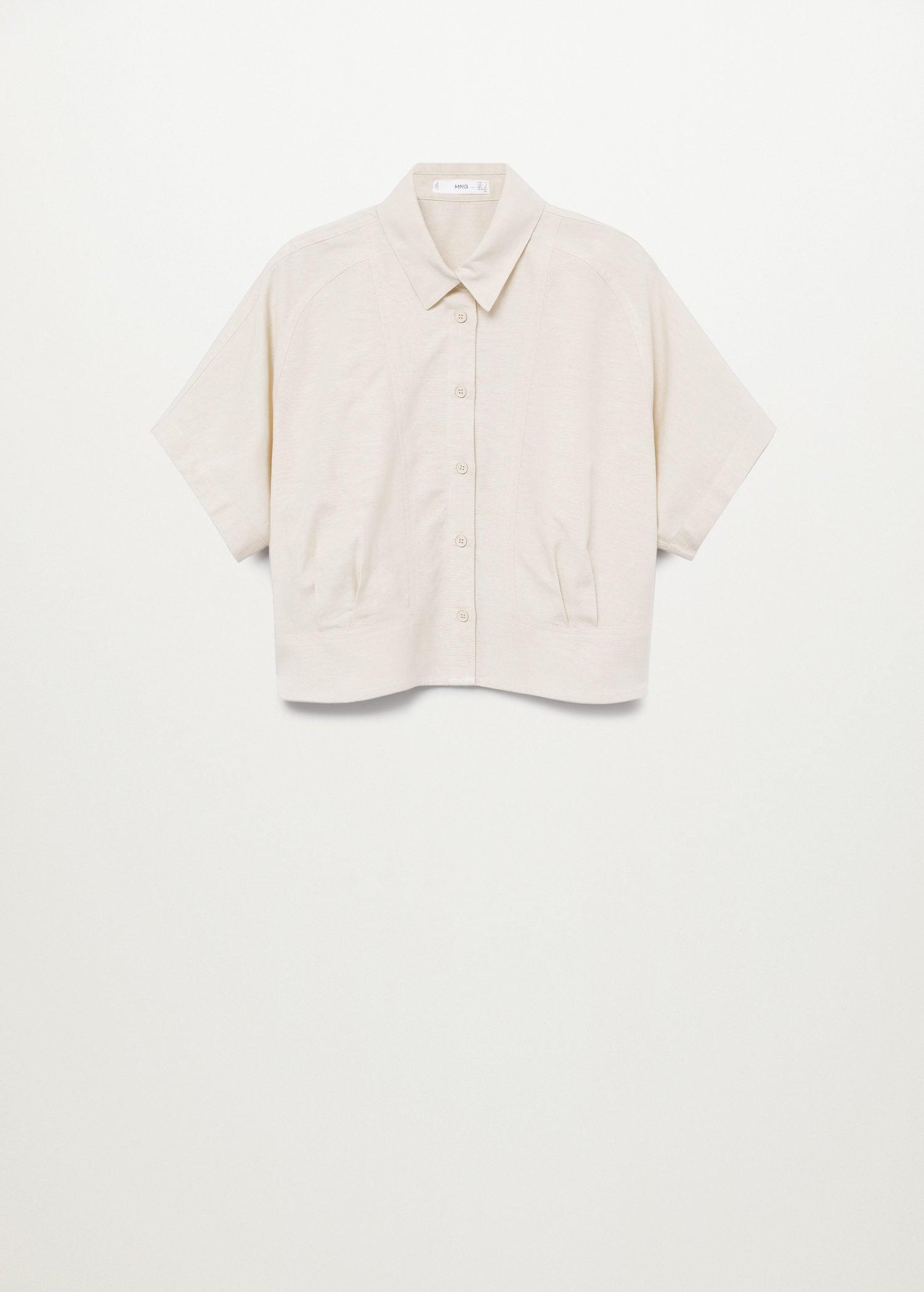 Pleated cropped shirt 7