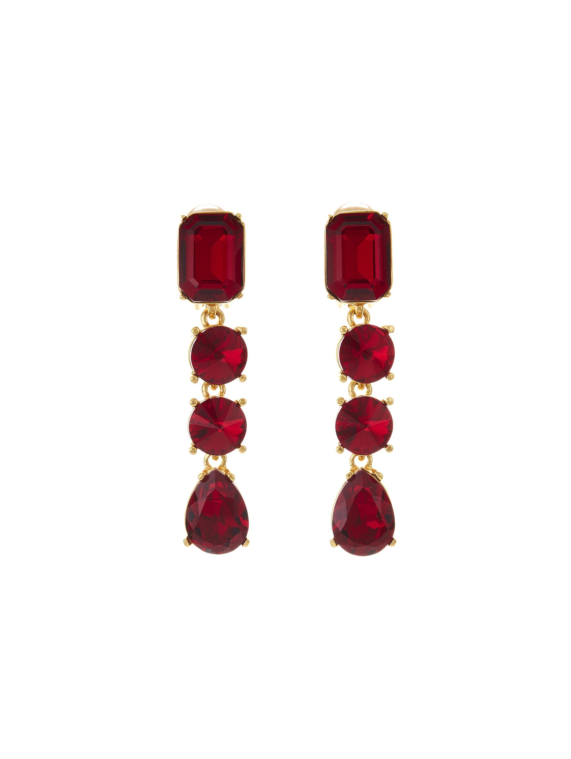 CLASSIC CRYSTAL LARGE DROP EARRING 0