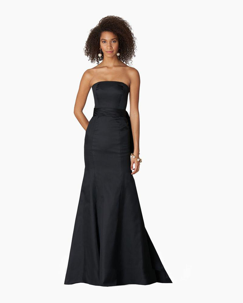 Strapless Trumpet Gown with Waist Knot Detail