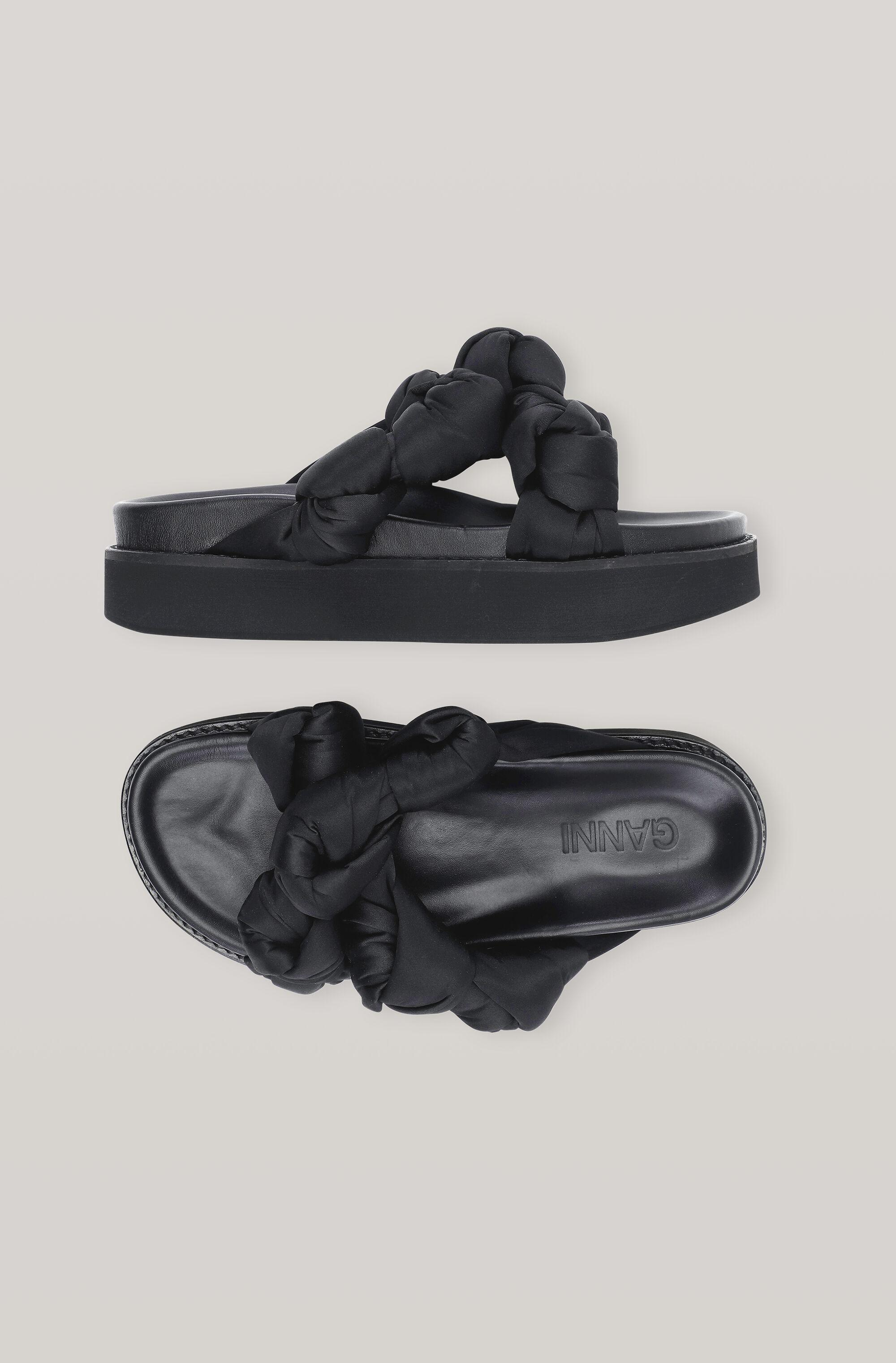 Recycled Satin Mid Knotted Sandal 1