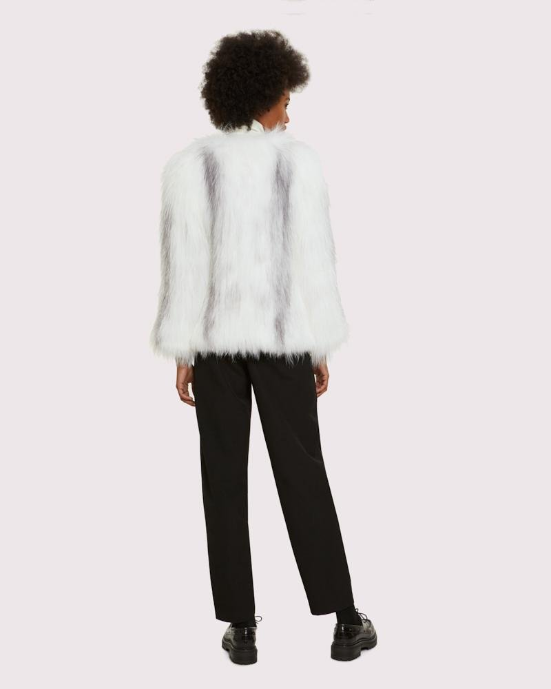 knitted arctic marble fox jacket 2