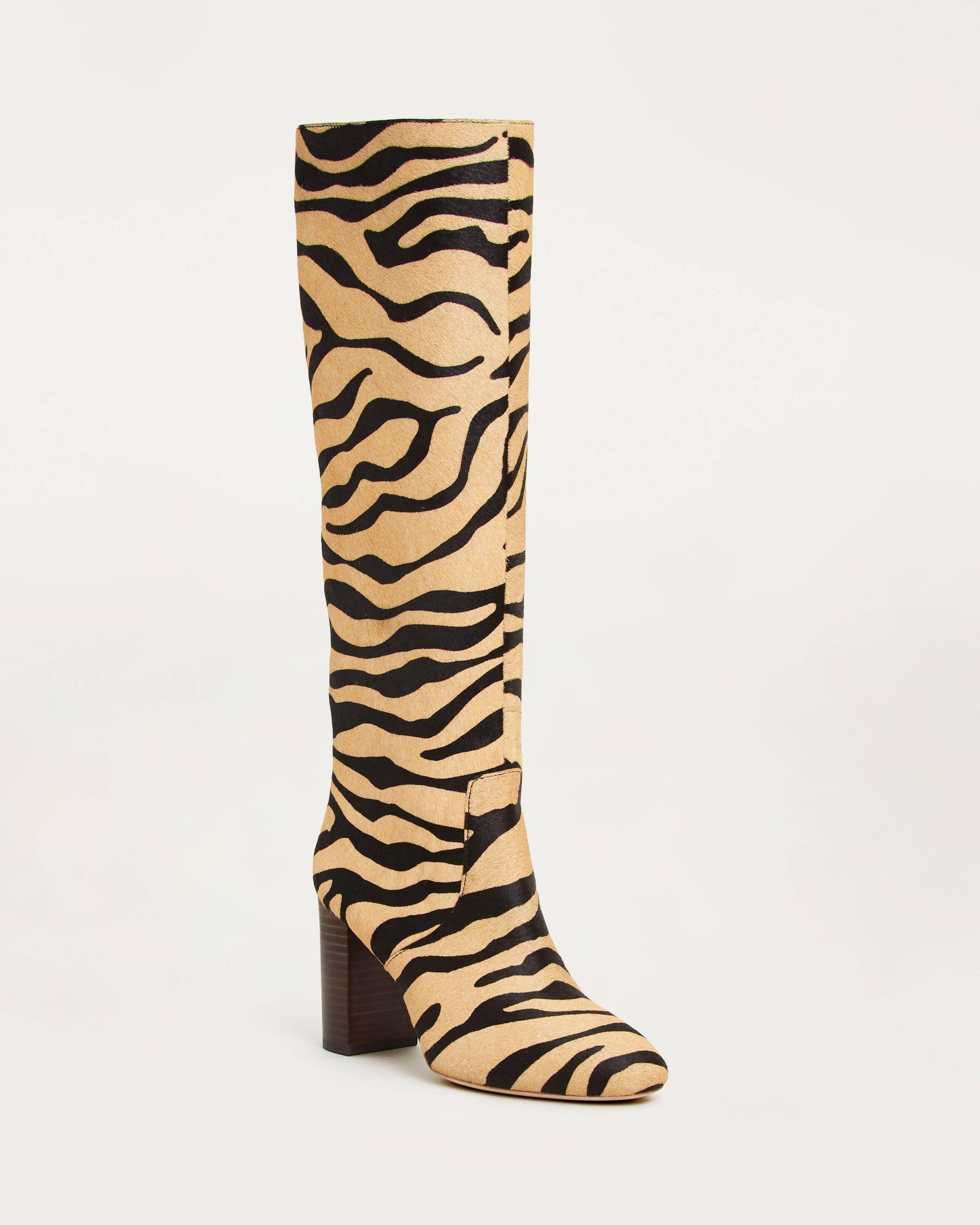 Goldy Tall Boot Tiger