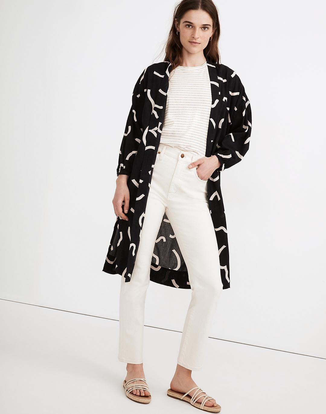 Robe Jacket in Bold Squiggles