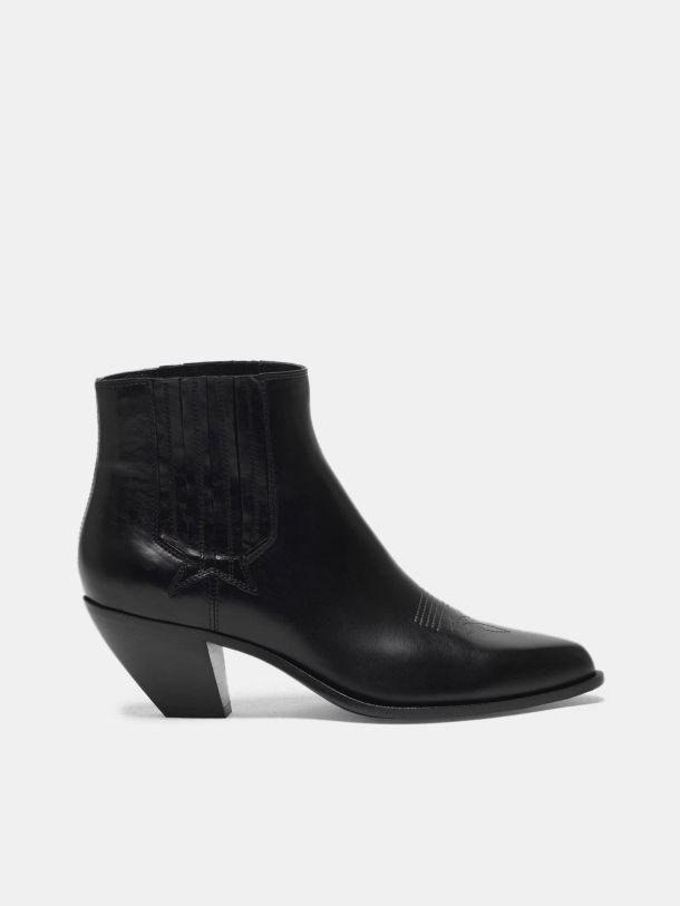 Sunset ankle boots in black leather 0