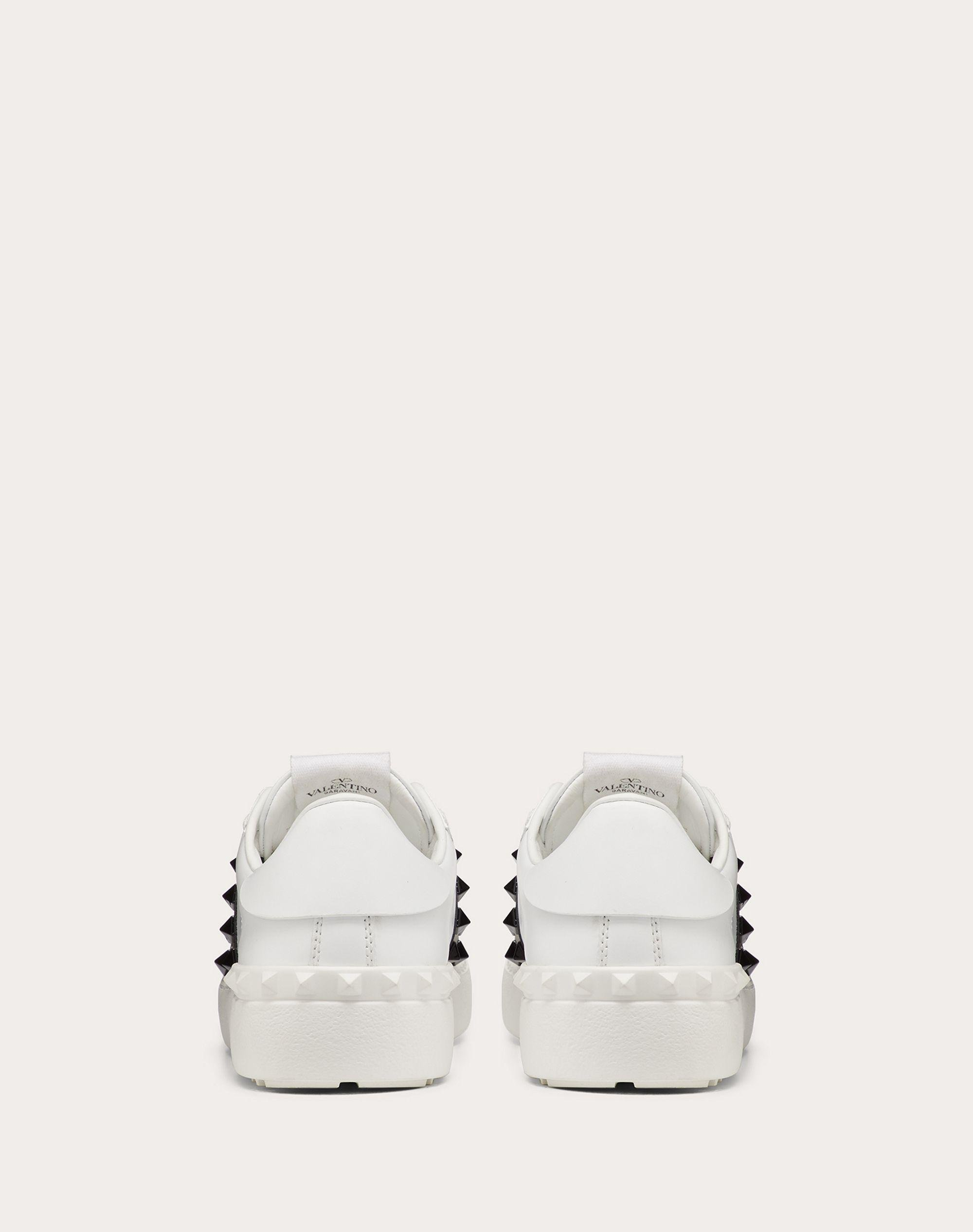 Rockstud Untitled Sneaker in Calfskin Leather with Tonal Studs 2