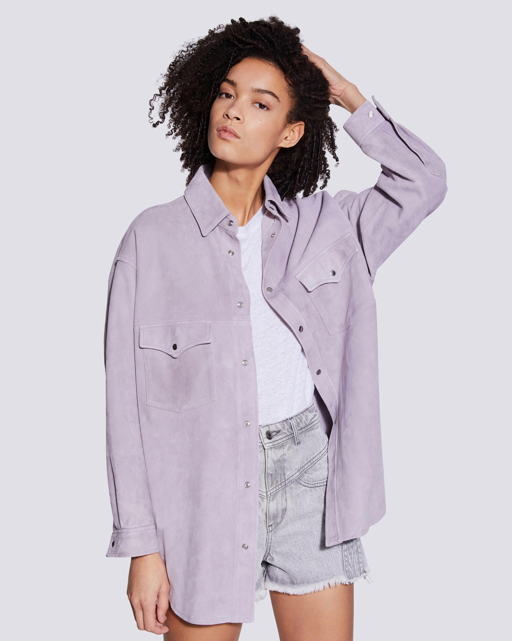 WOLFRA SUEDE BUTTON UP SHIRT