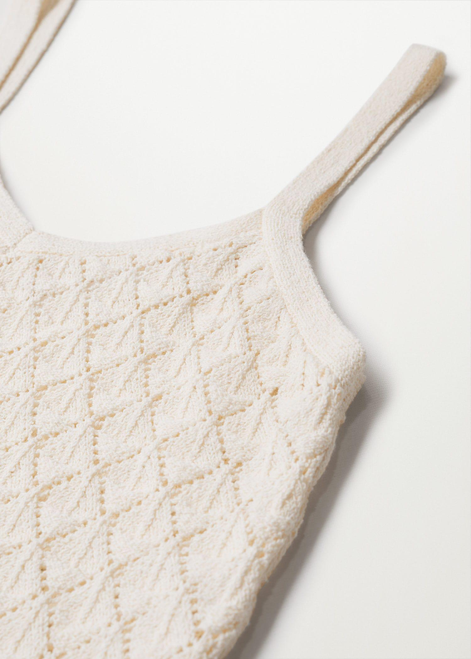 Knitted cropped top 7