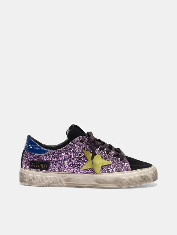 May sneakers in glitter and suede leather