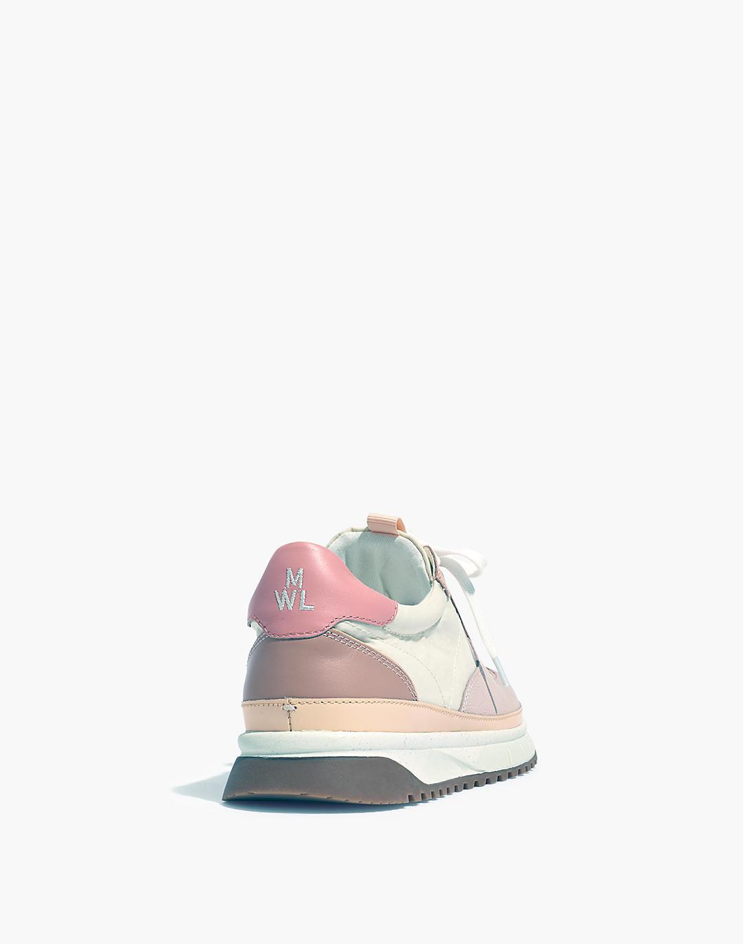 Kickoff Trainer Sneakers in Washed Nylon and Leather 2