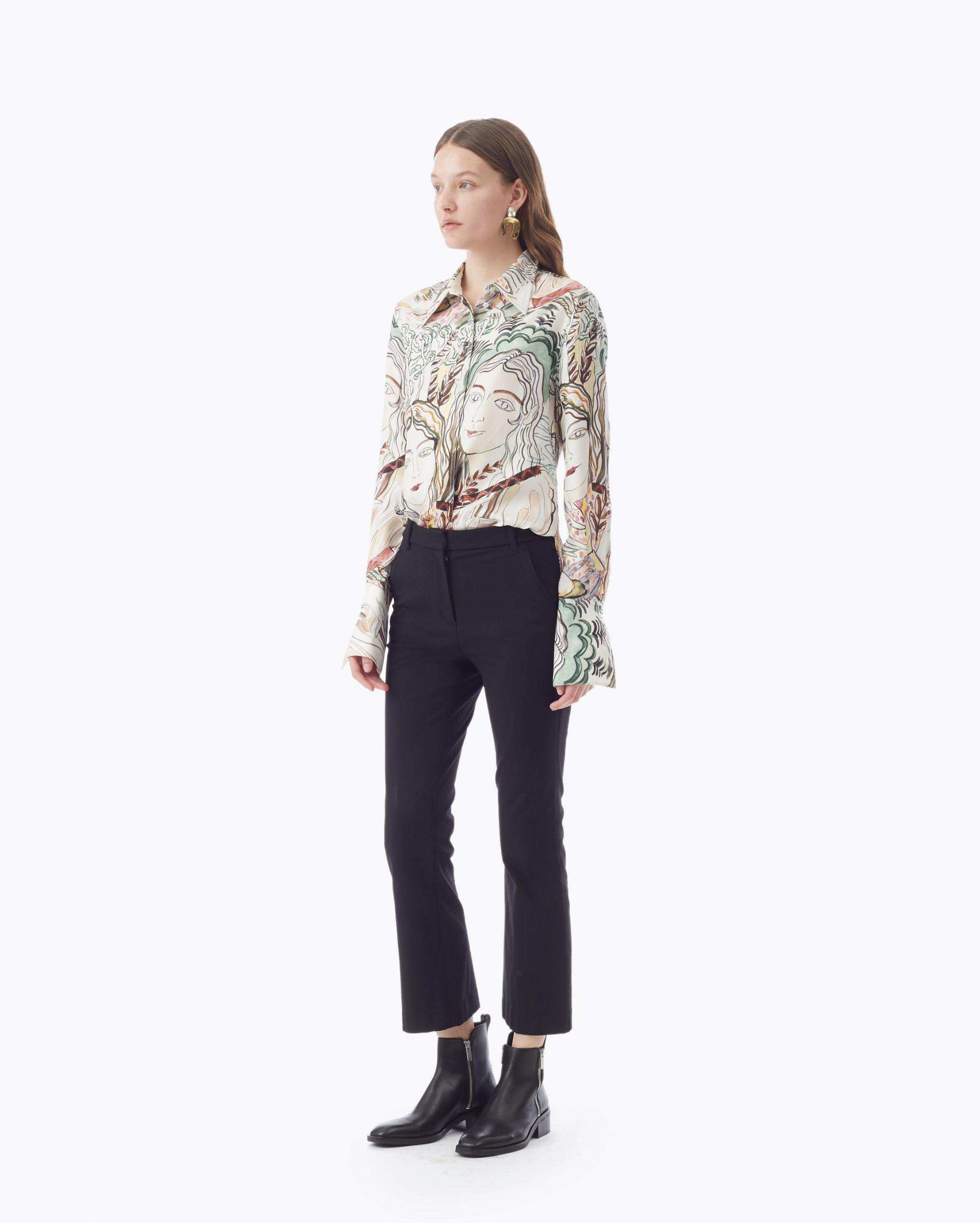 Cropped Flared Trouser 1