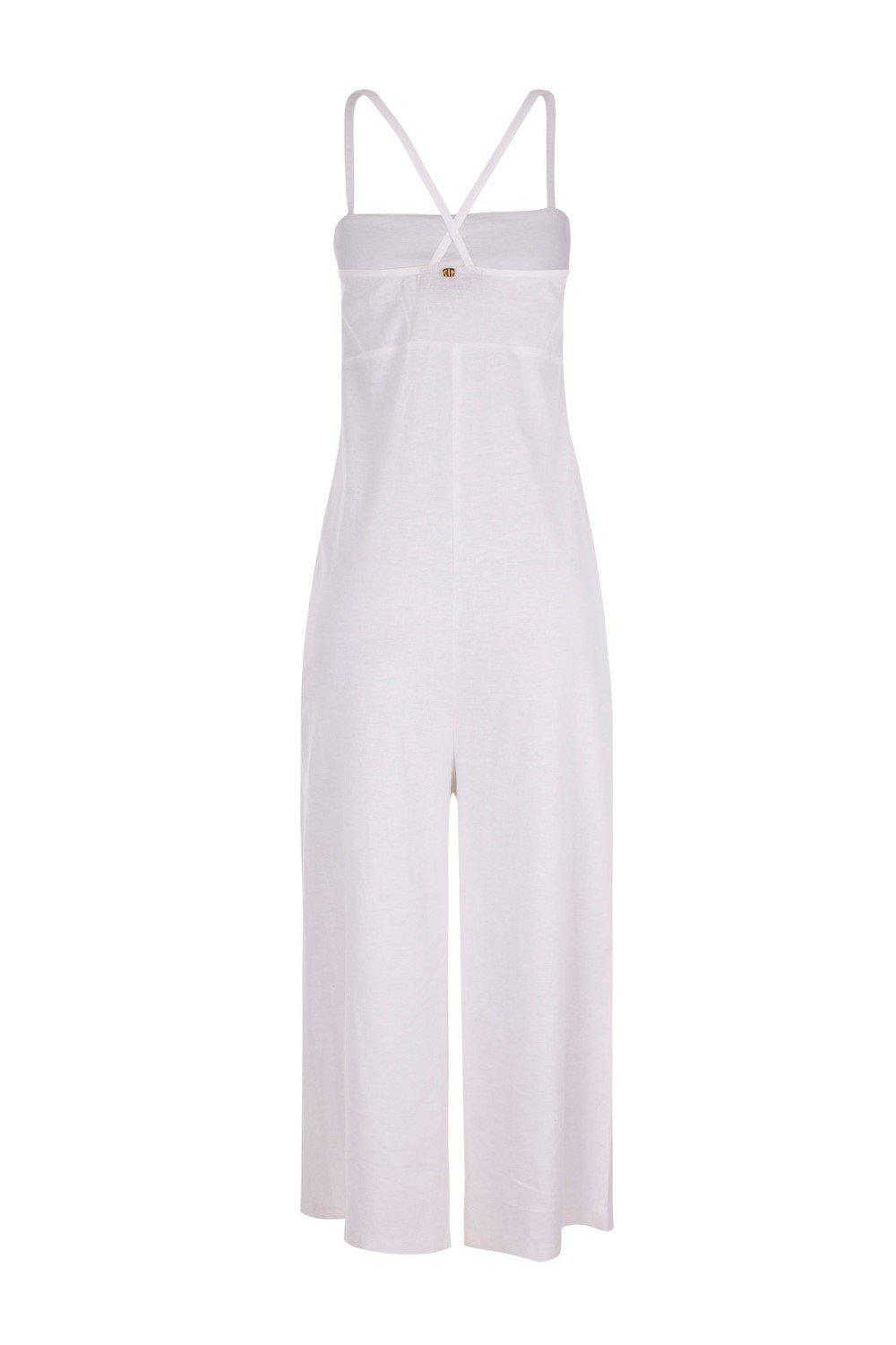Pineapple Midi Jumpsuit with Pineapple Buttons 1