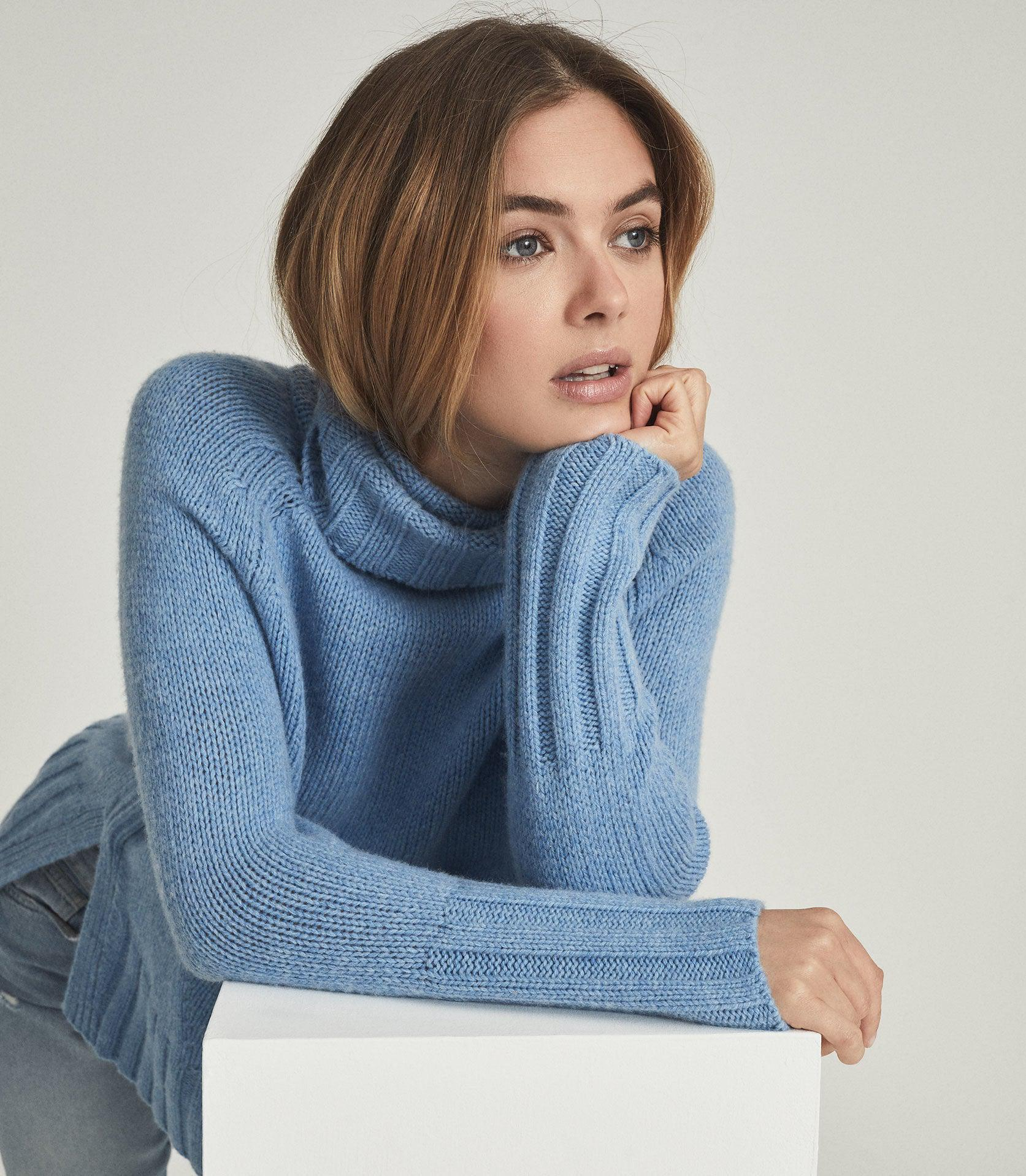EVE - WOOL CASHMERE BLEND ROLL NECK 1