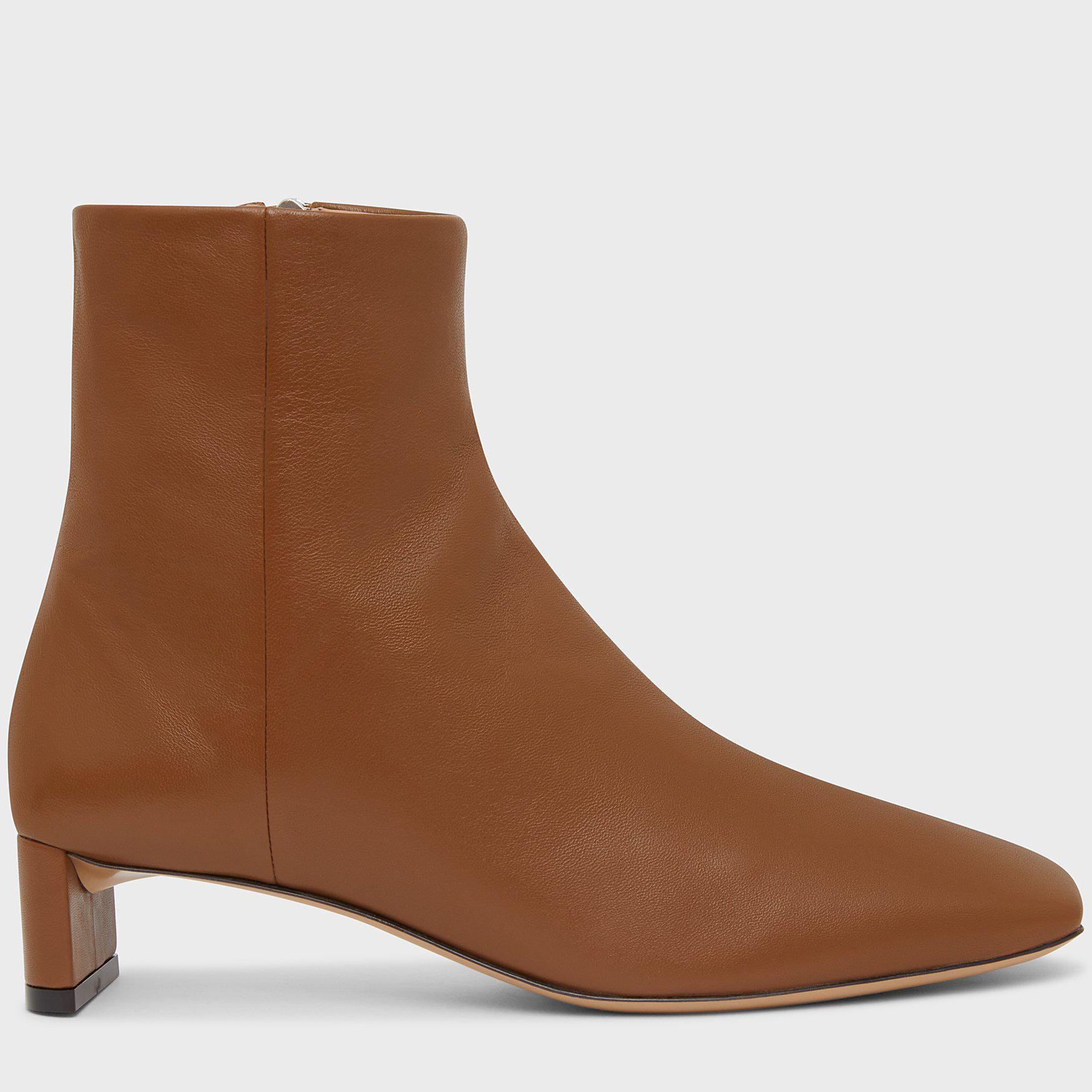 Square Toe Ankle Boot - Camel