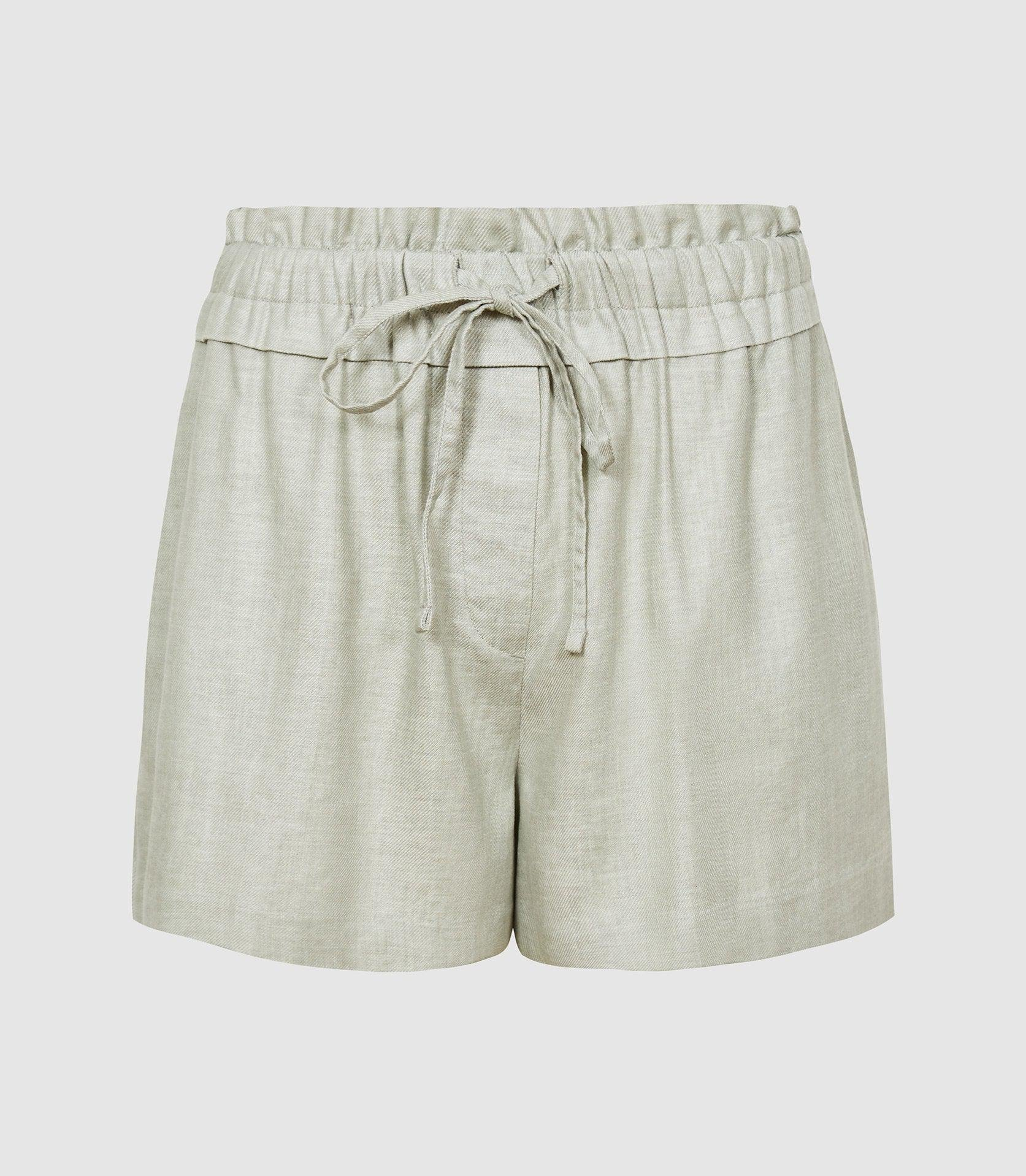 LACEY - LINEN BLEND DRAWCORD SHORTS 6